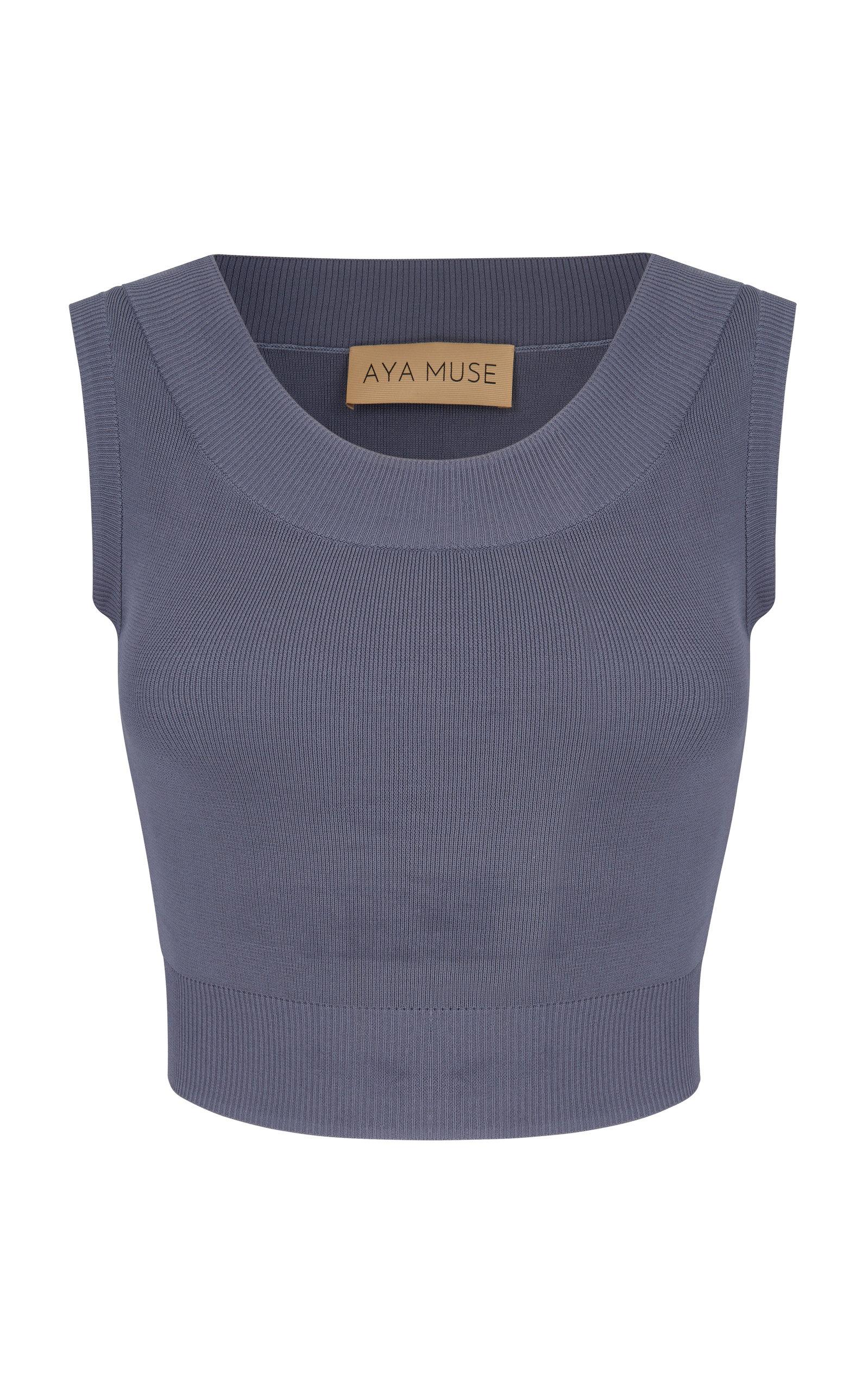 Women's Onyx Knit Cropped Top