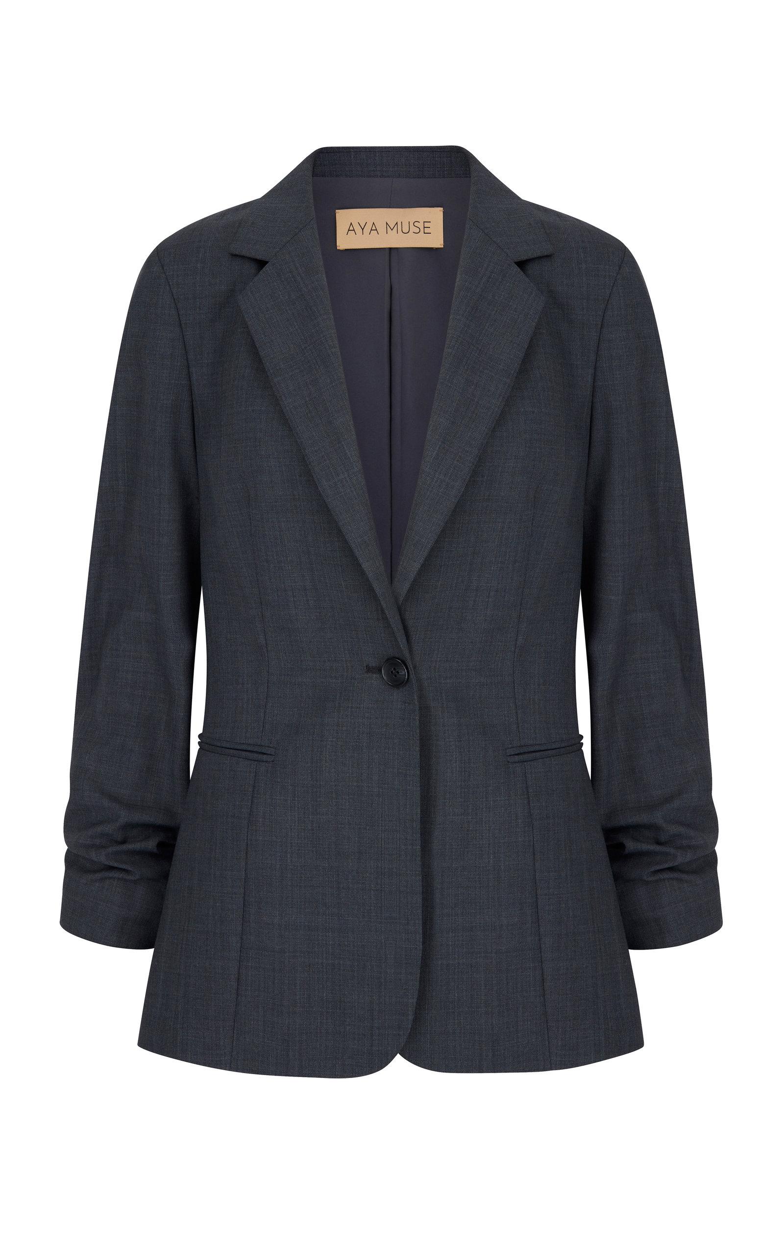 Women's Baojin Ruched Woven Blazer