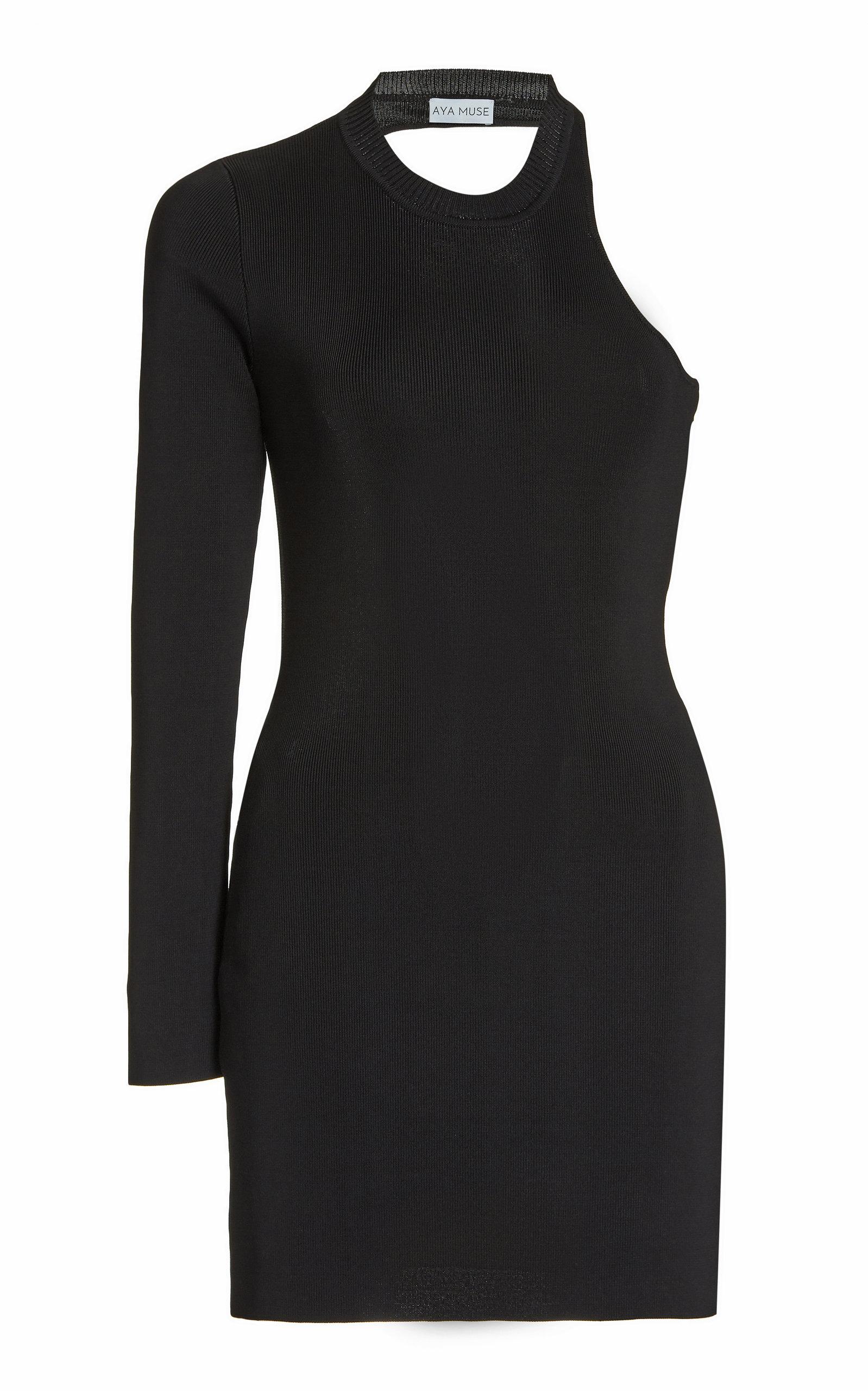 Women's Garnet Cutout Ribbed-Knit Mini Dress