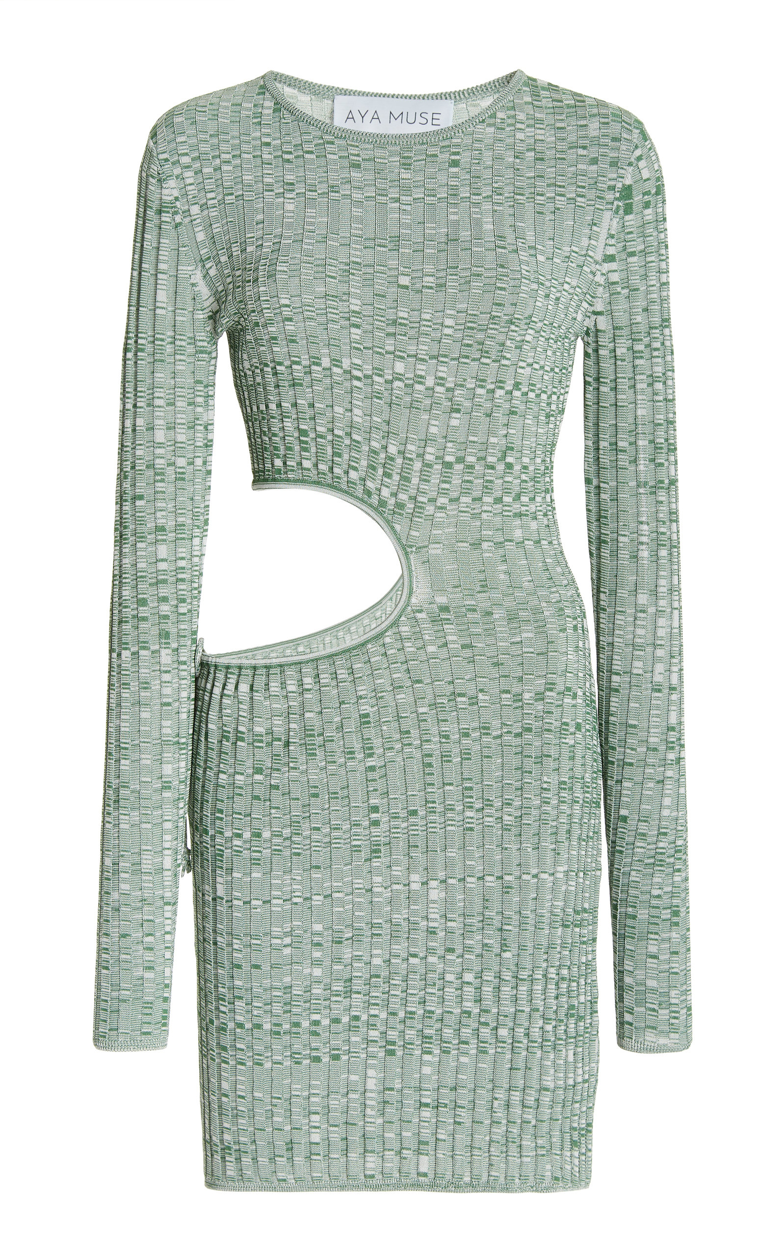 Women's Turquoise Cutout Ribbed-Knit Mini Dress