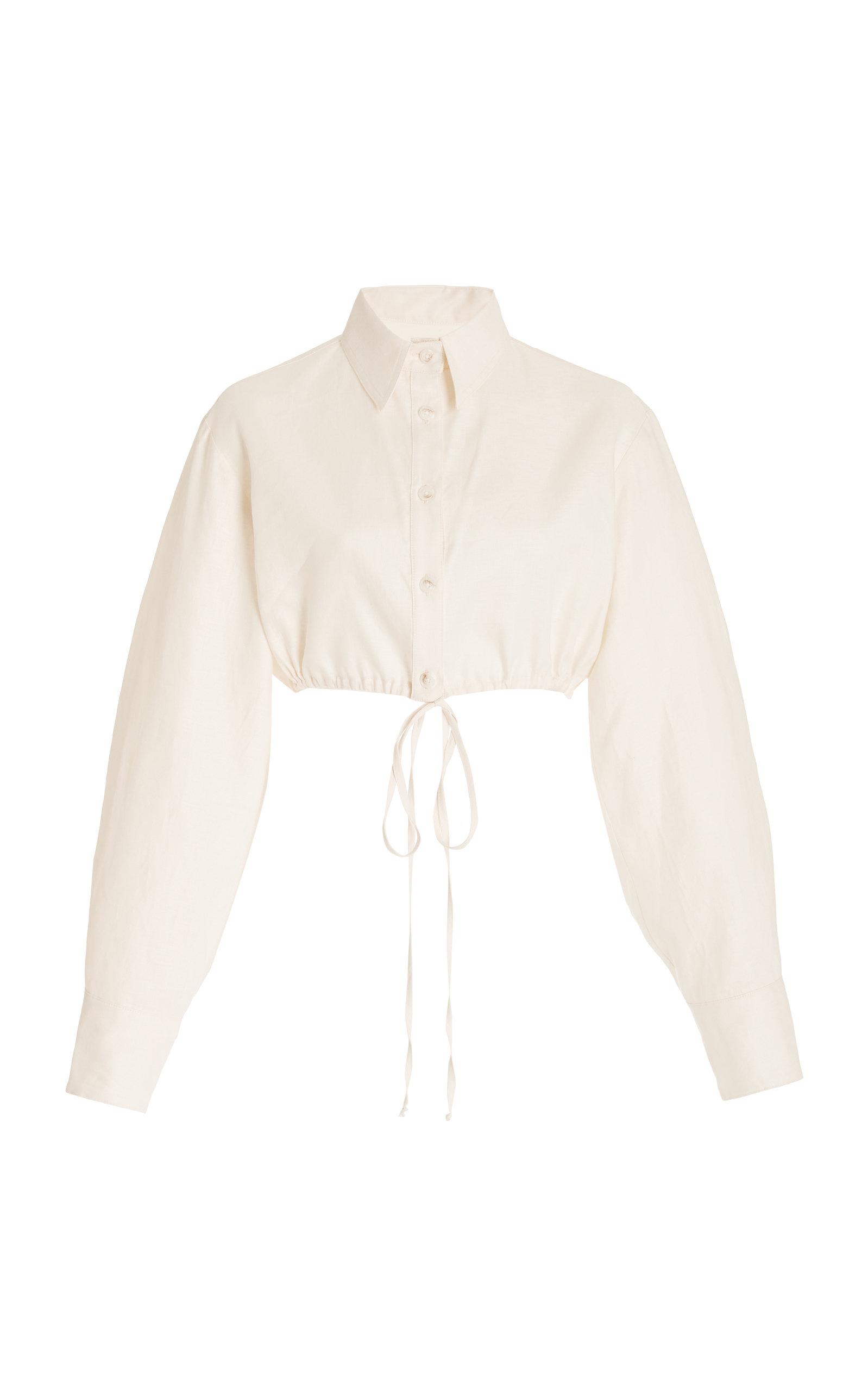 Women's Exclusive Cropped Linen Shirt