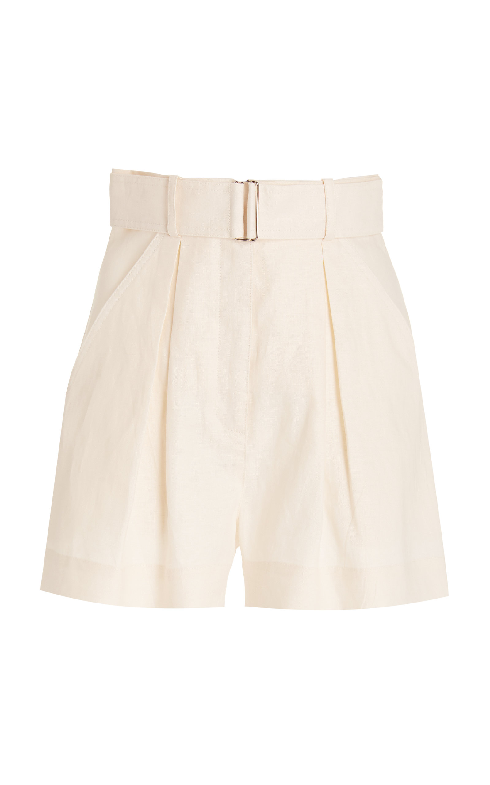 Women's Exclusive Pleated Linen Shorts