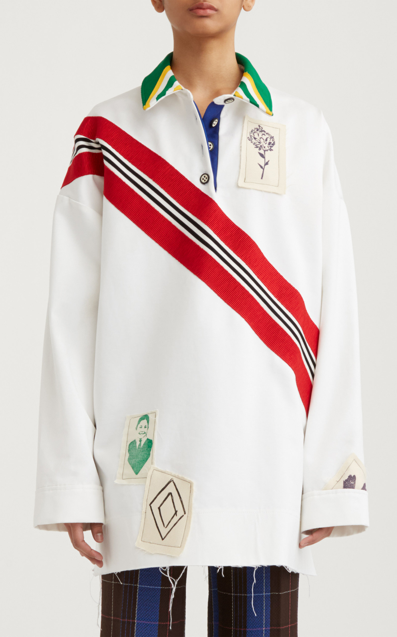 Women's Collared Cotton Rugby Sweater