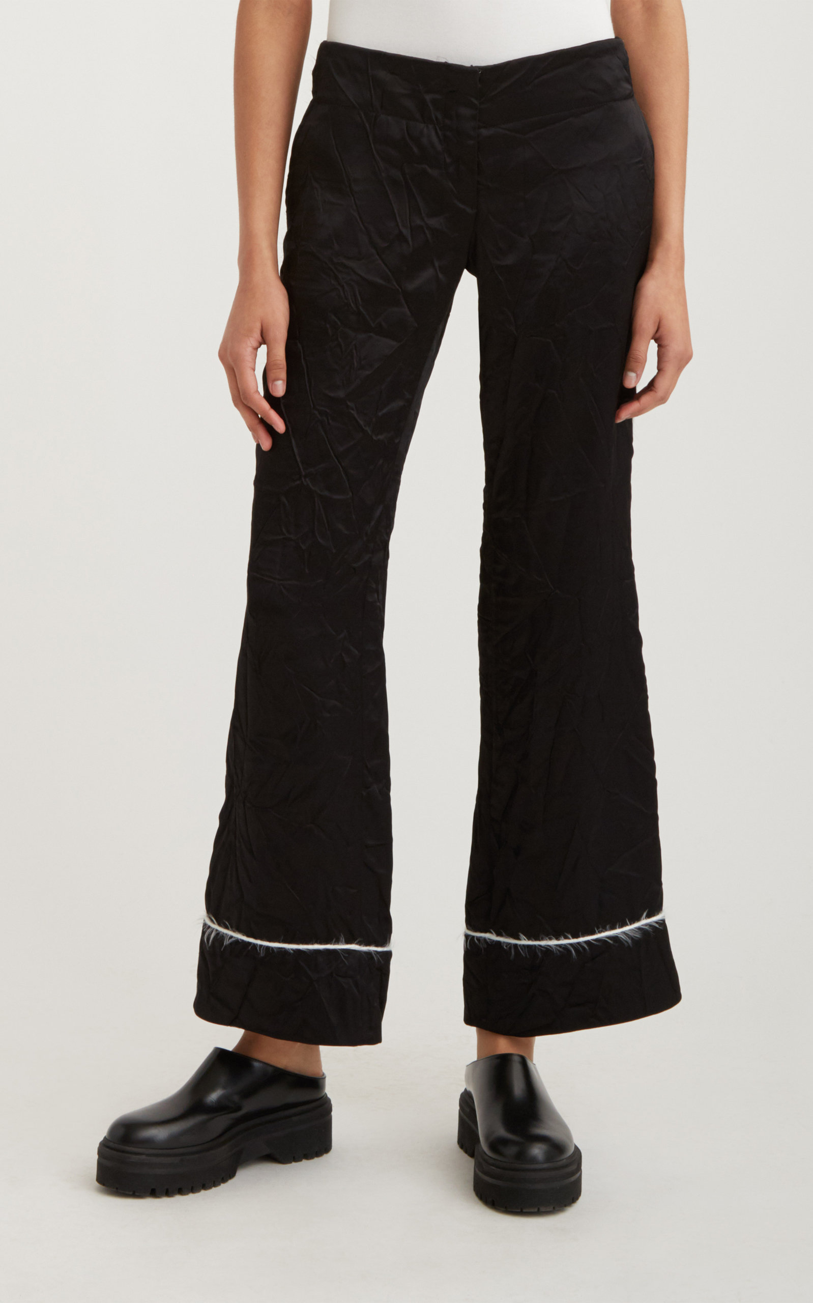 Women's Piped Cropped Pajama Trouser