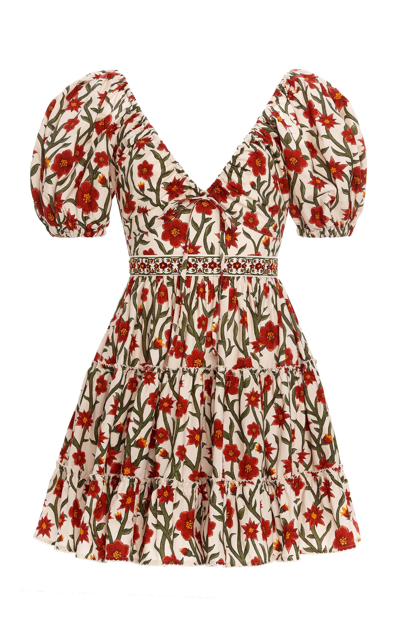 Women's Manzanilla Floral Cotton Poplin Mini Dress