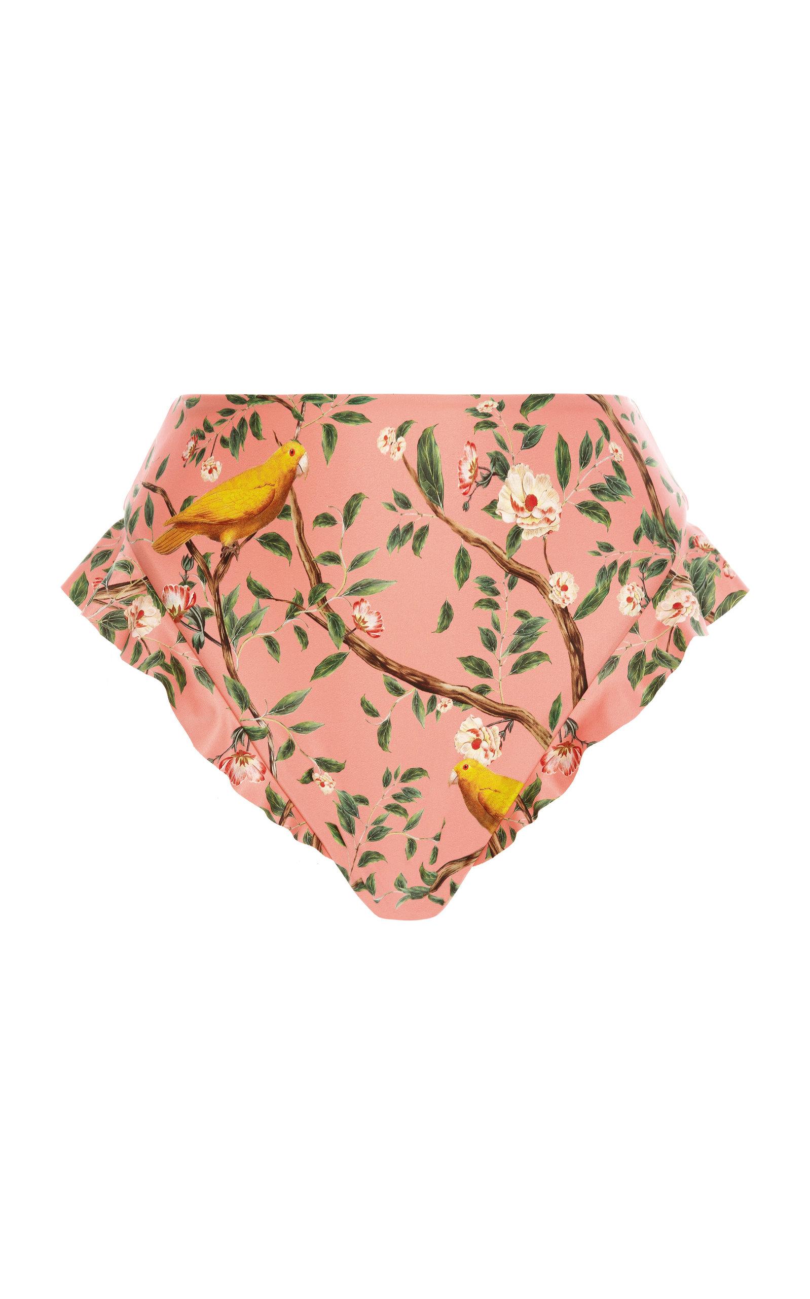 Women's Jengibre Ruffled Printed Bikini Bottom