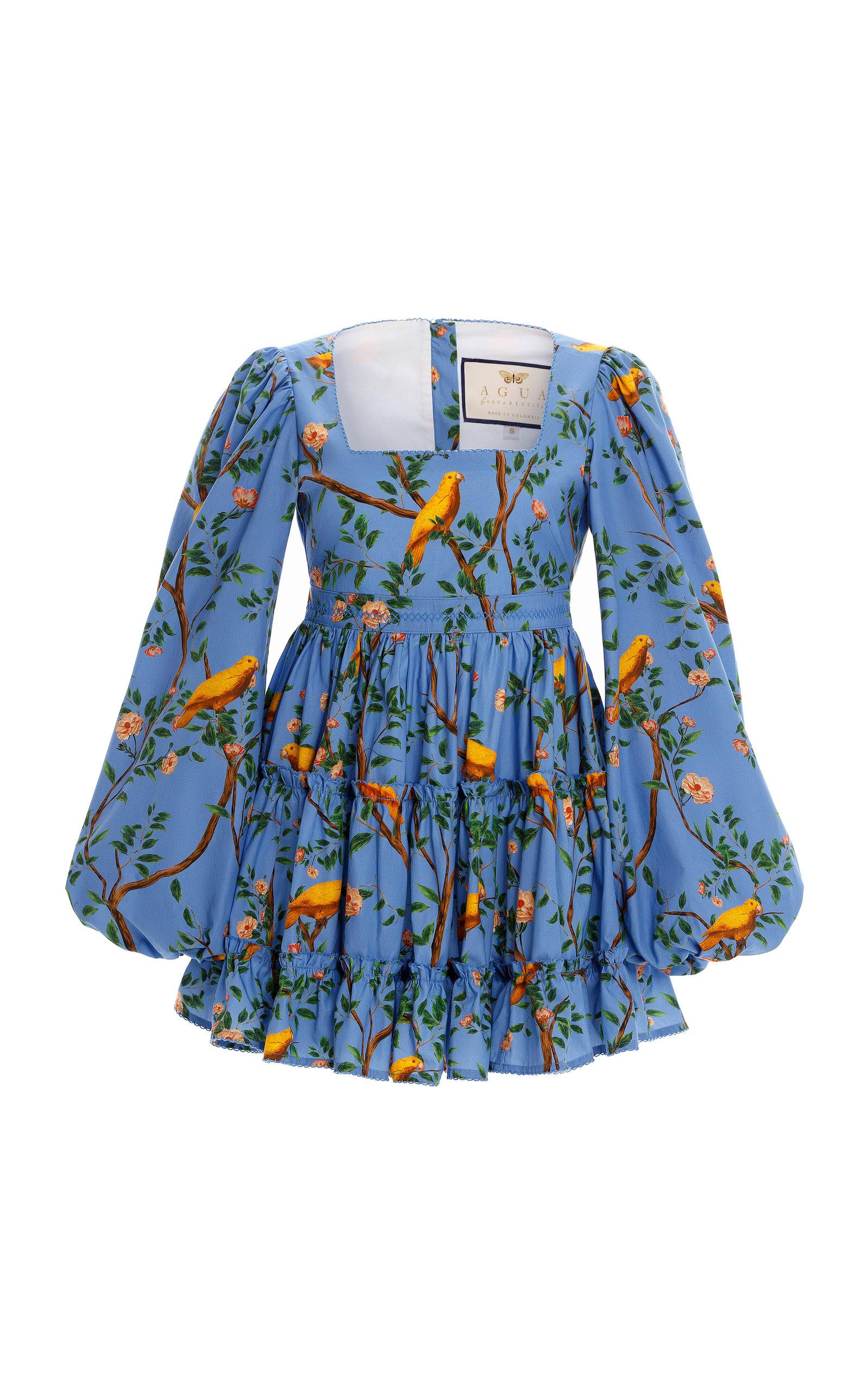 Women's Avena Printed Cotton-Poplin Mini Dress