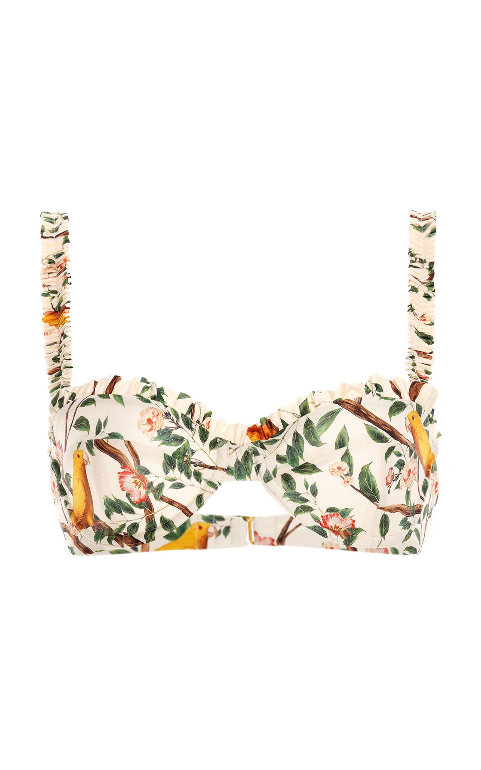 Women's Agraz Printed Ruffled Bikini Top