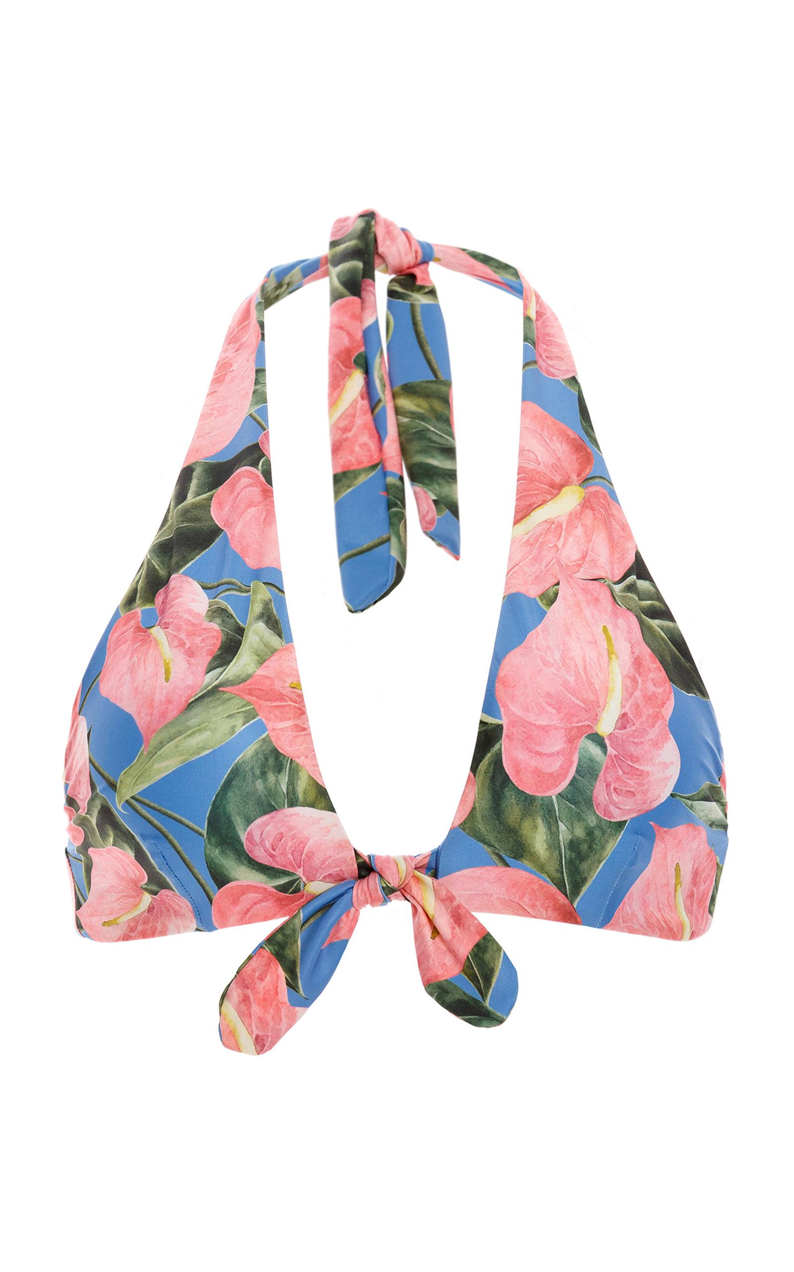 Women's Carambolo Floral-Printed Tie-Detail Bikini Top