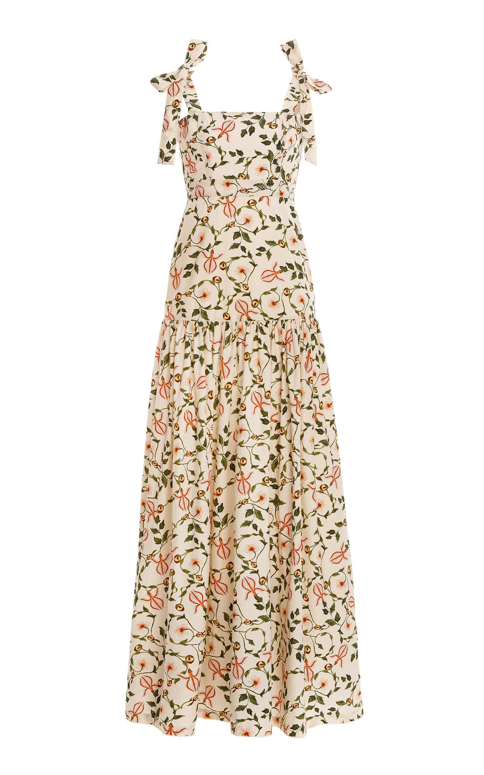 Women's Mandarina Floral Cotton Poplin Maxi Dress