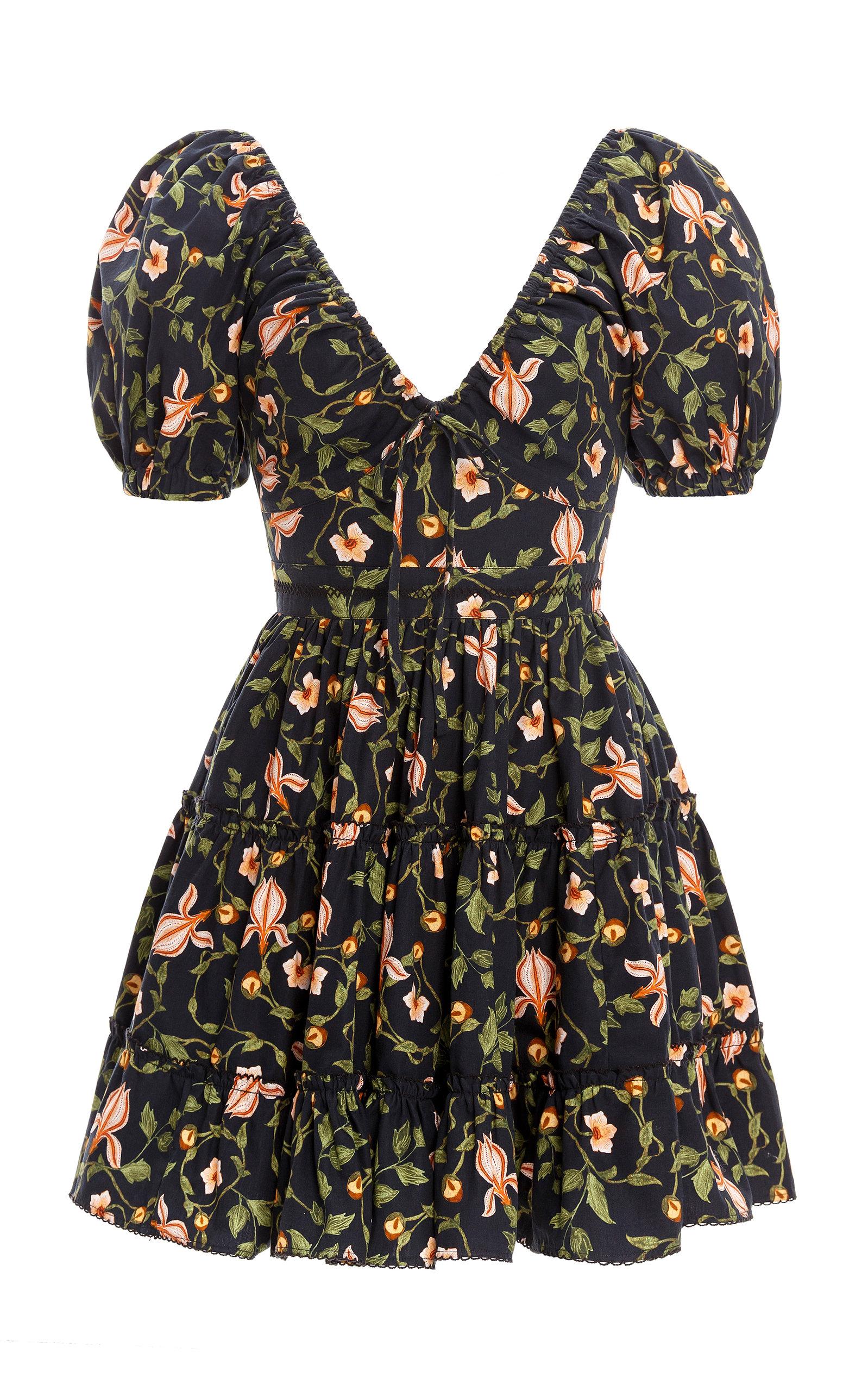 Women's Manzanilla Floral-Printed Cotton Poplin Mini Dress