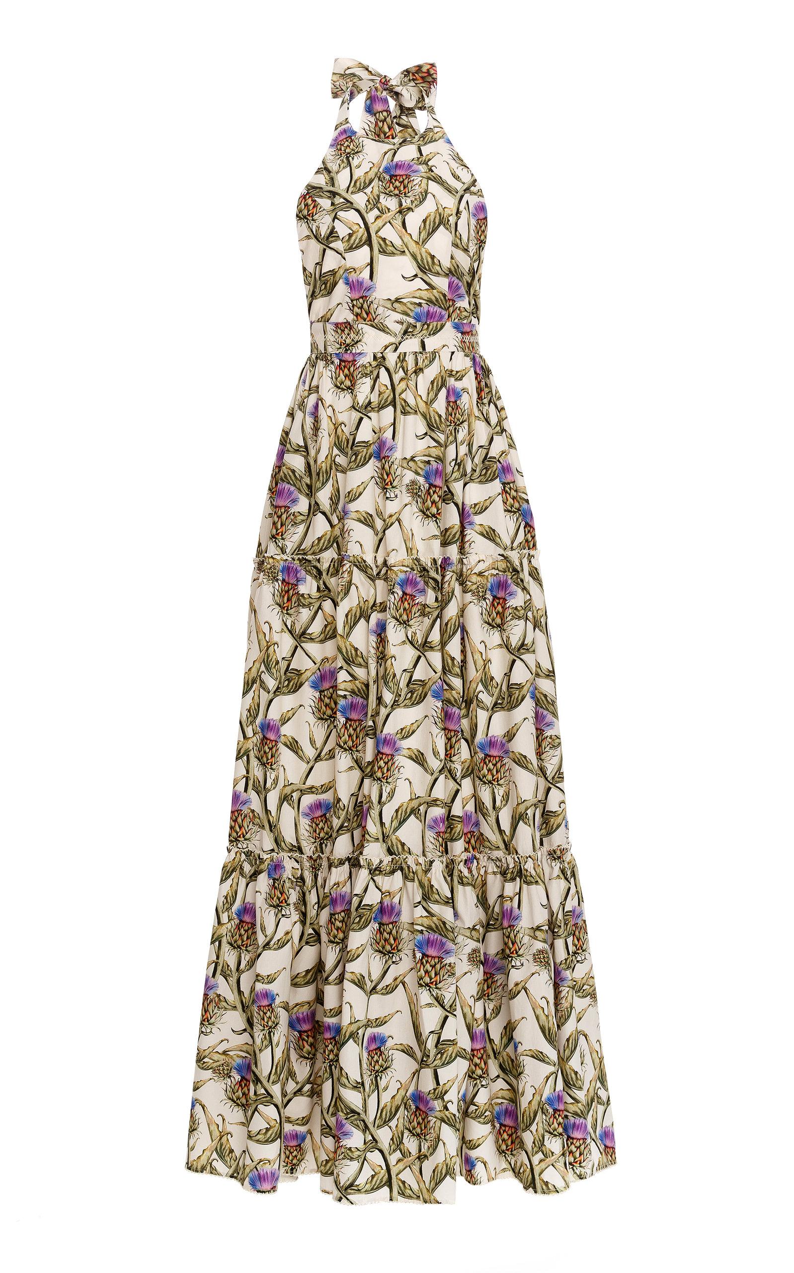 Women's Naranja Tiered Cotton Poplin Maxi Dress