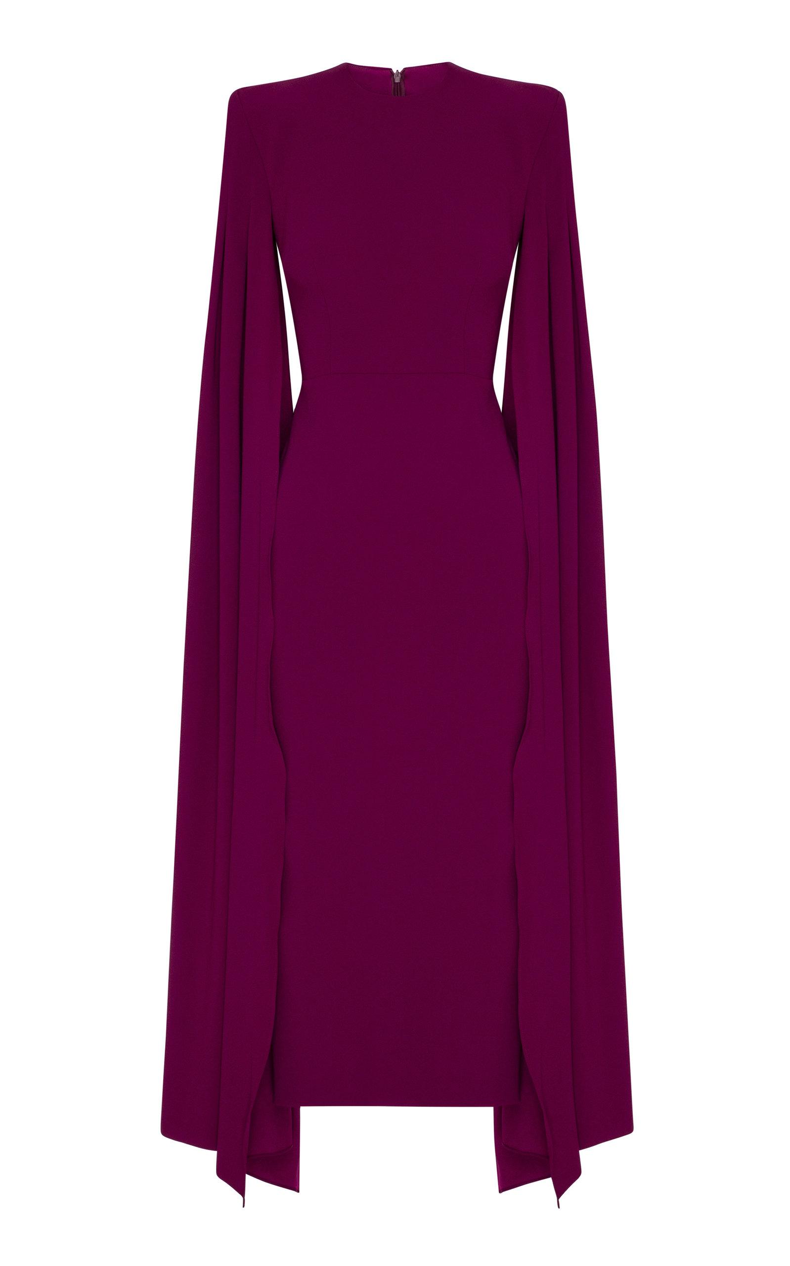 Women's Kennedy Satin-Crepe Cape Dress
