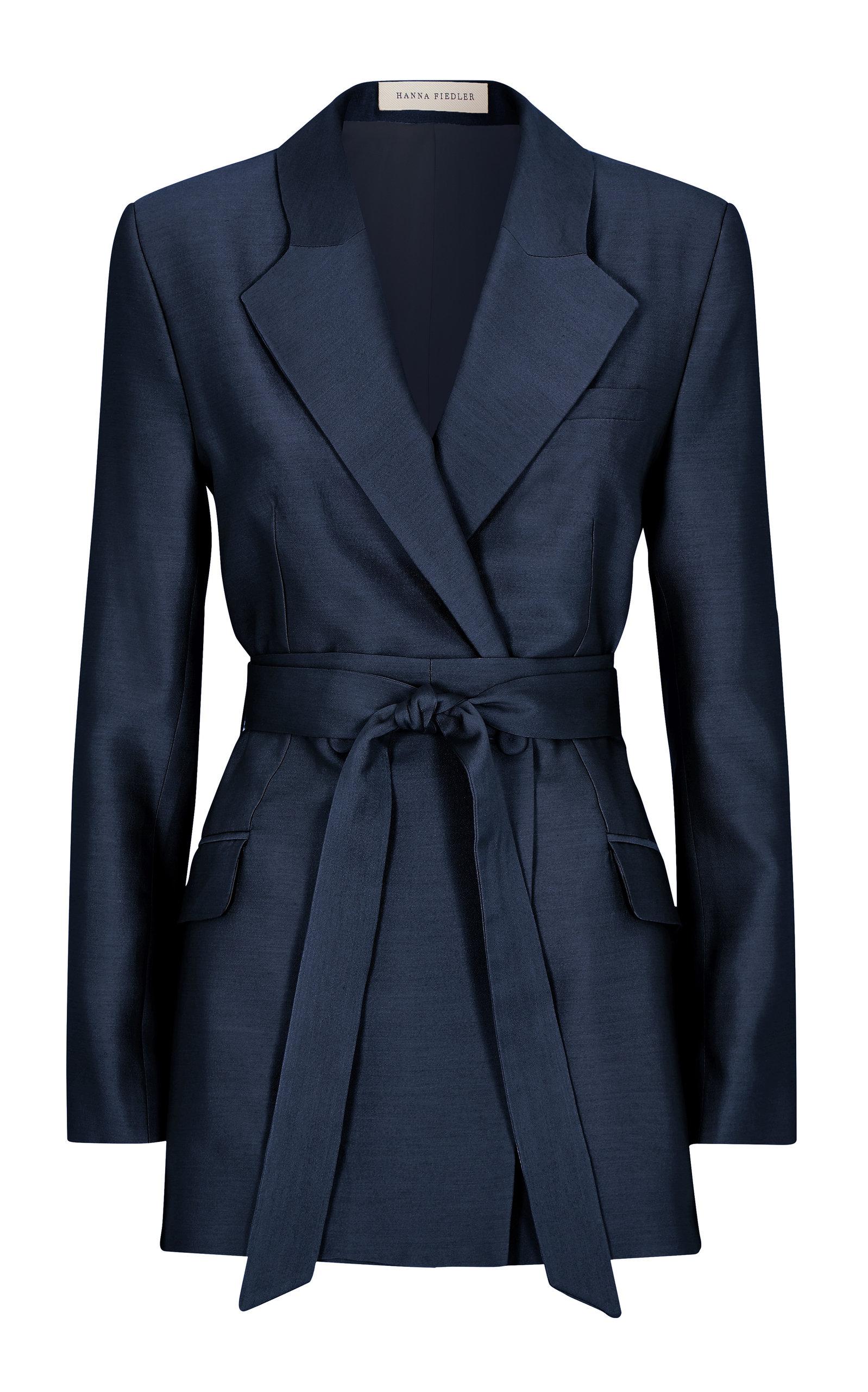 Women's Sawa Belted Silk-Blend Blazer