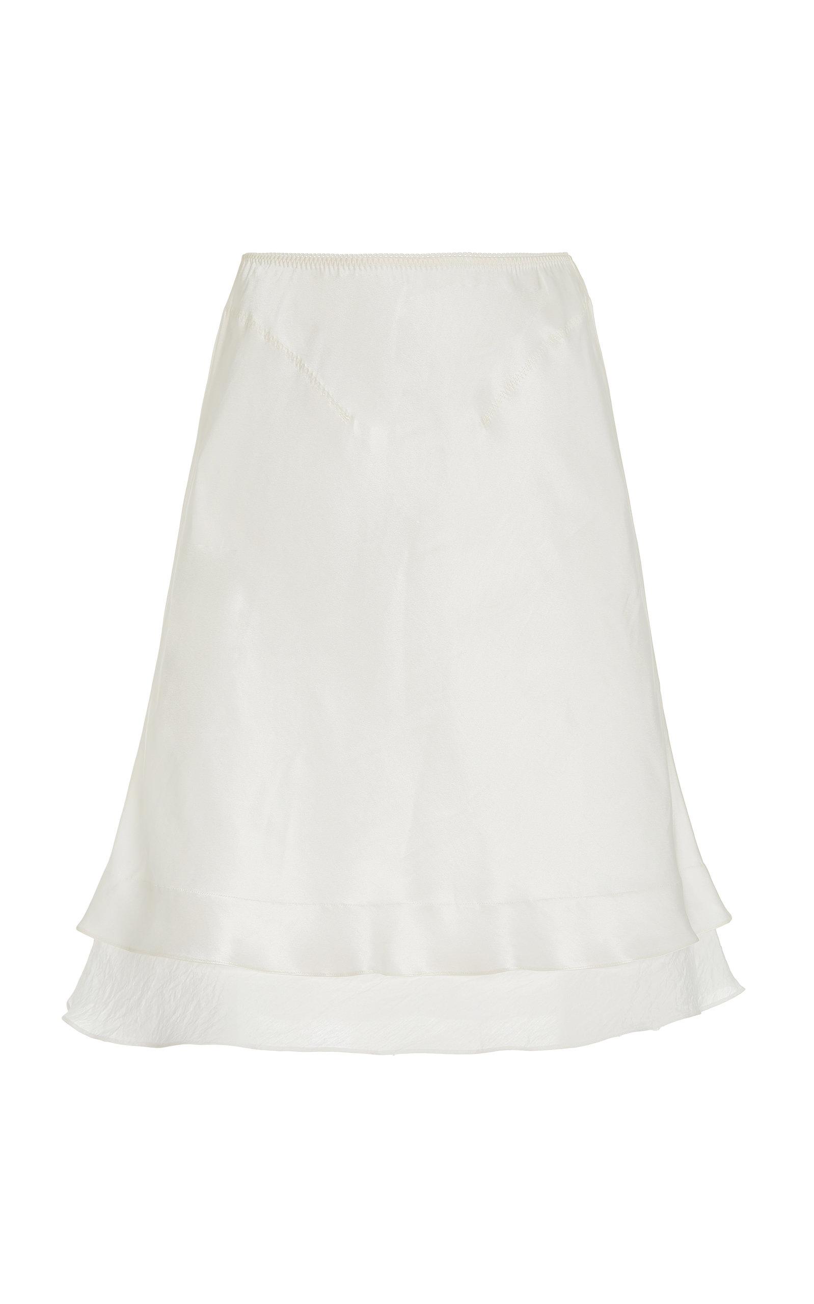 Women's Masha A-Line Satin Midi Skirt