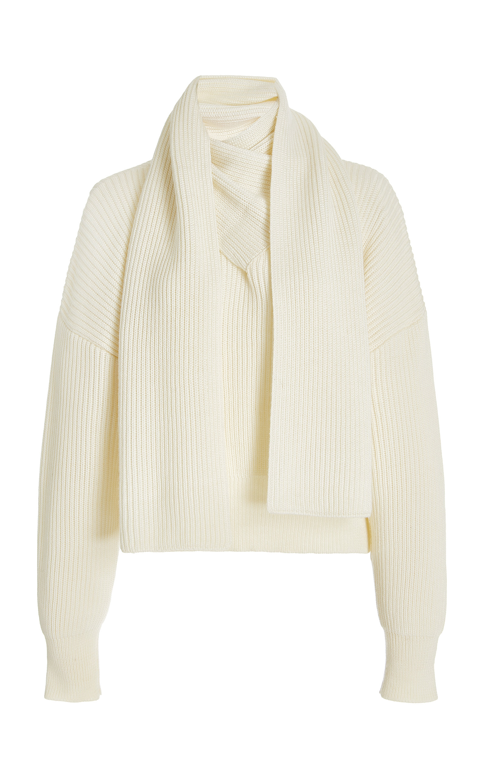 Women's Berlin Scarf-Detail Wool-Blend Top