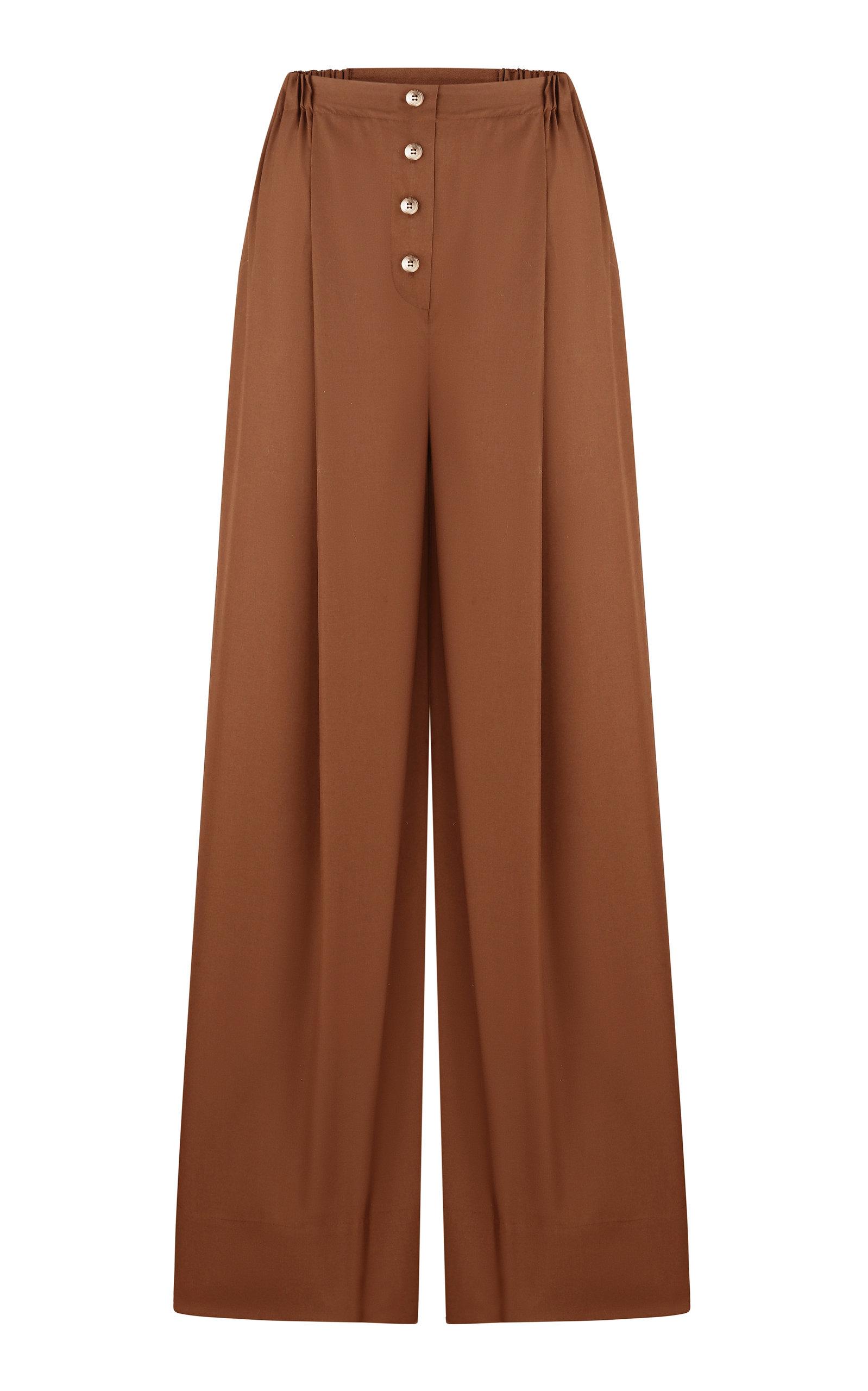 Women's Yulia Wide-Leg Cotton Pants