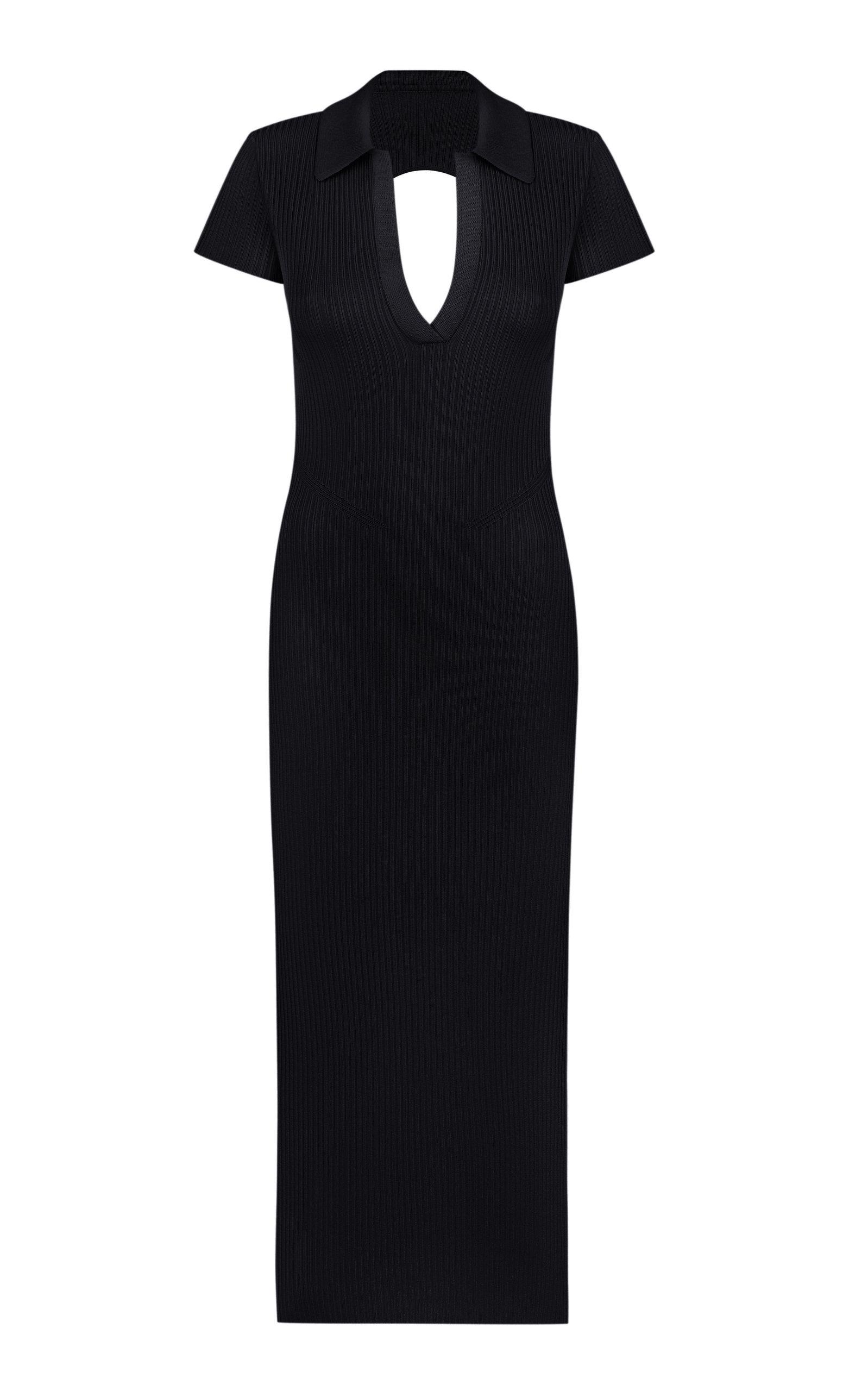 Women's Ellina Open-Back Ribbed-Knit Midi Dress