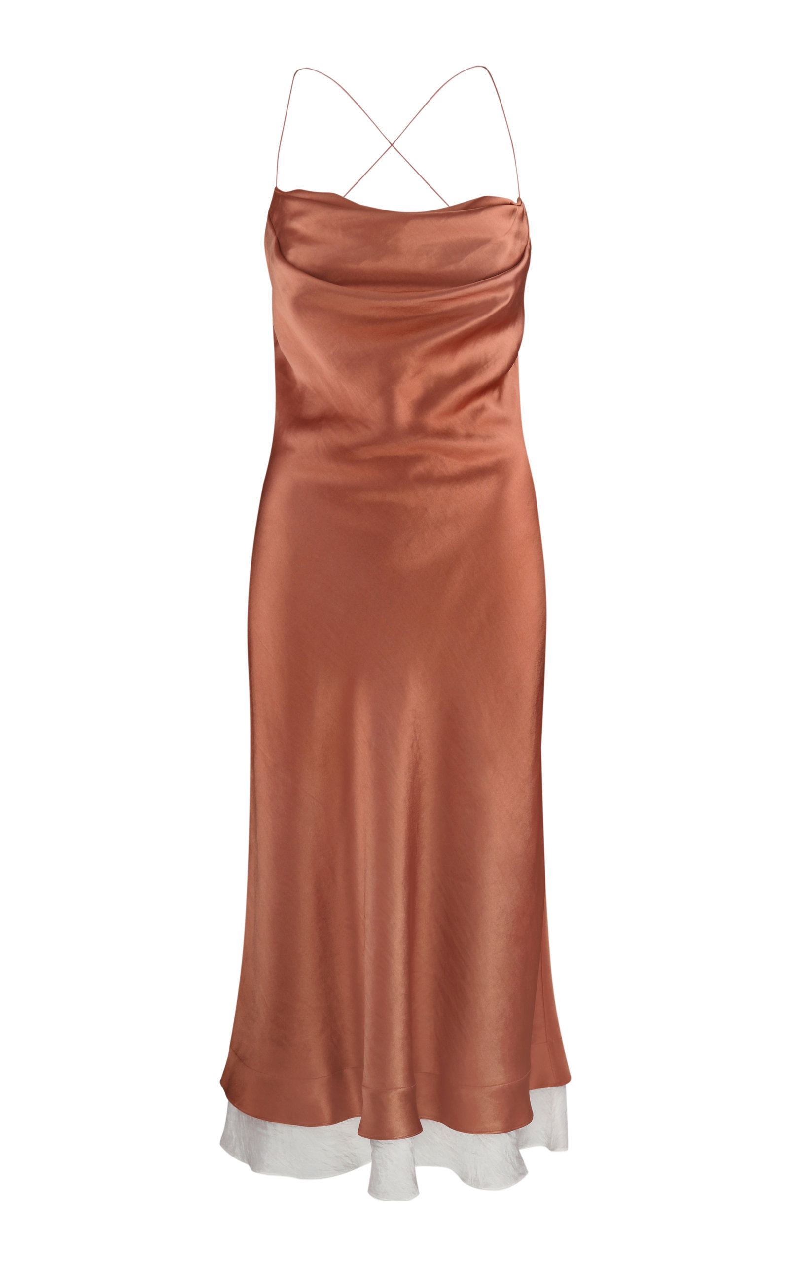 Women's Dasha Low-Back Satin Slip Dress
