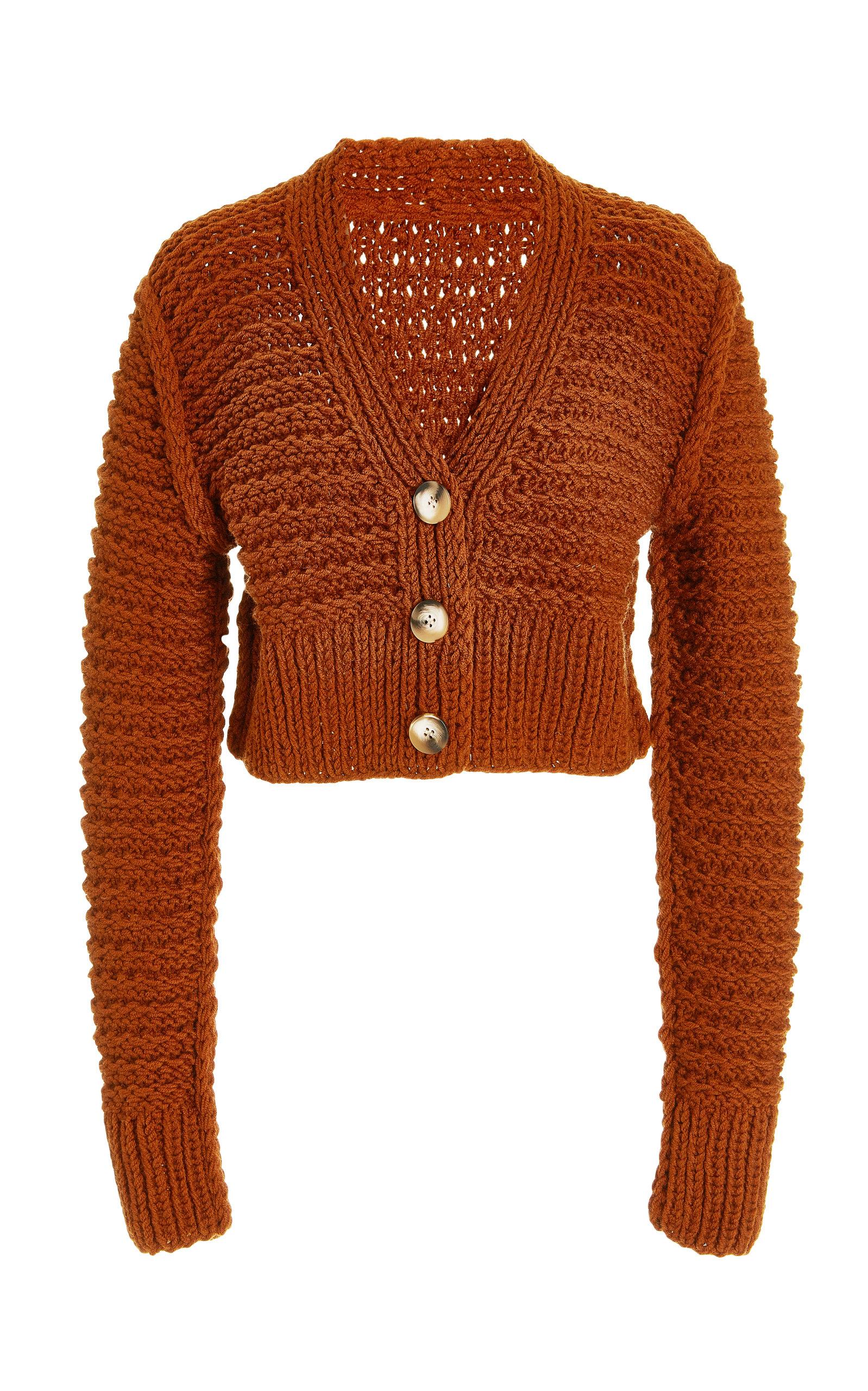 Women's Marta Textured Cropped Knit Cardigan