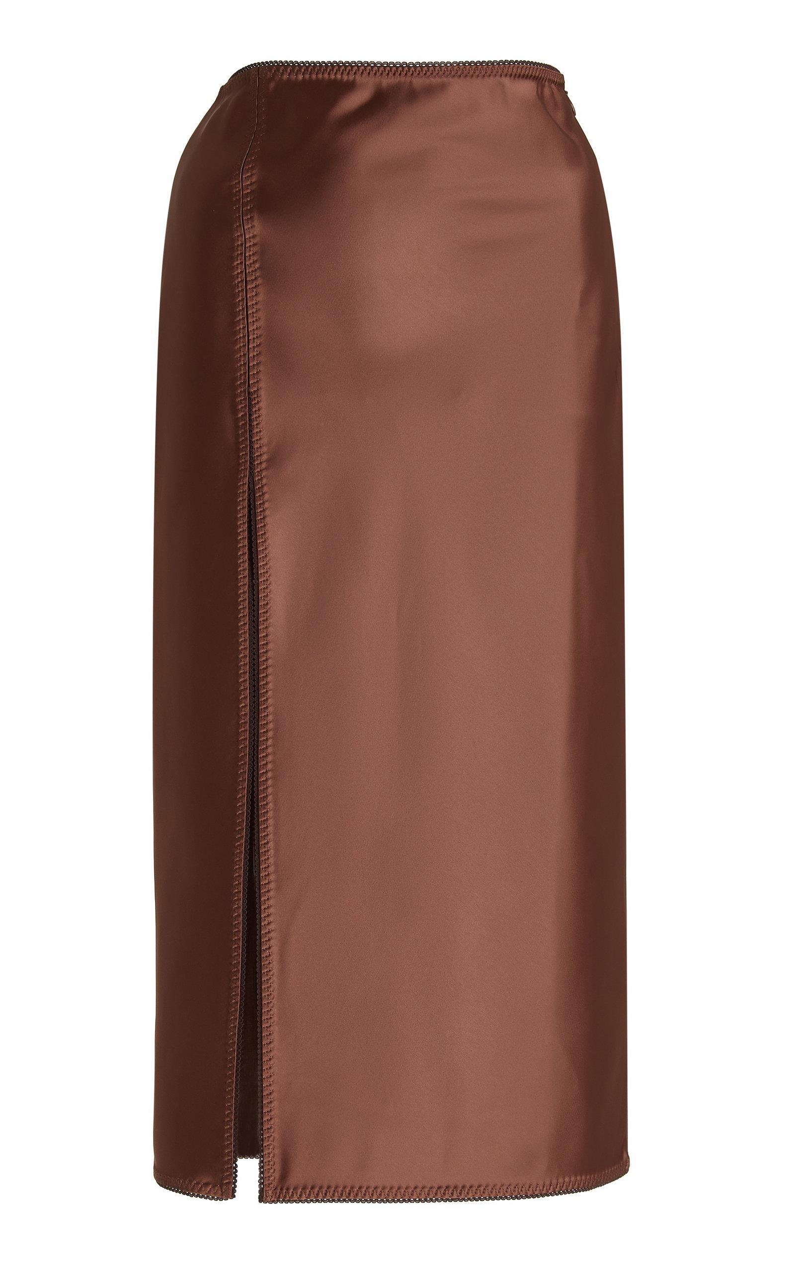 Women's Vlada Slit Satin Midi Skirt