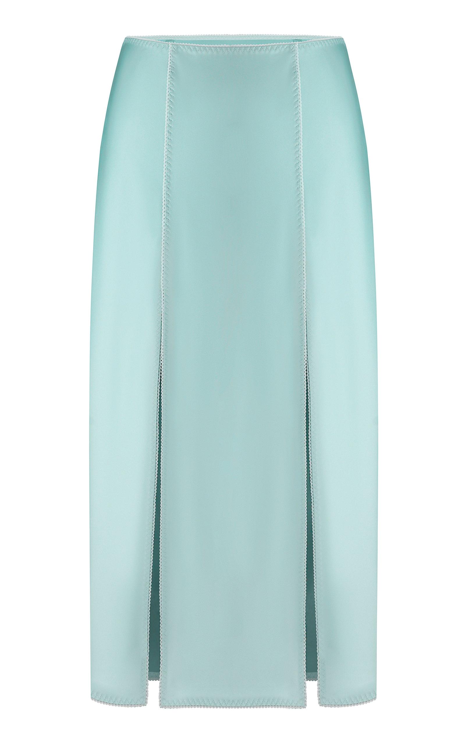 Women's Zhenia Double-Slit Satin Skirt