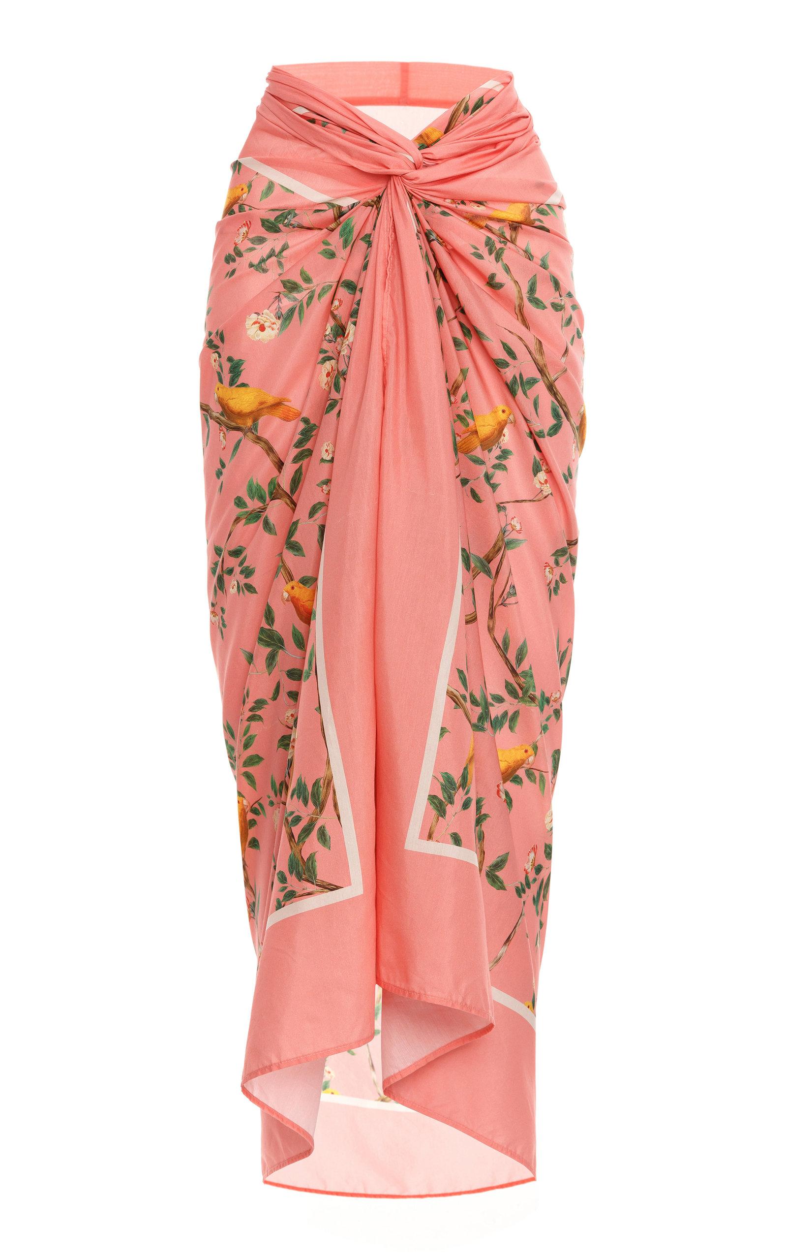 Women's Lavanda Printed Cotton-Silk Pareo