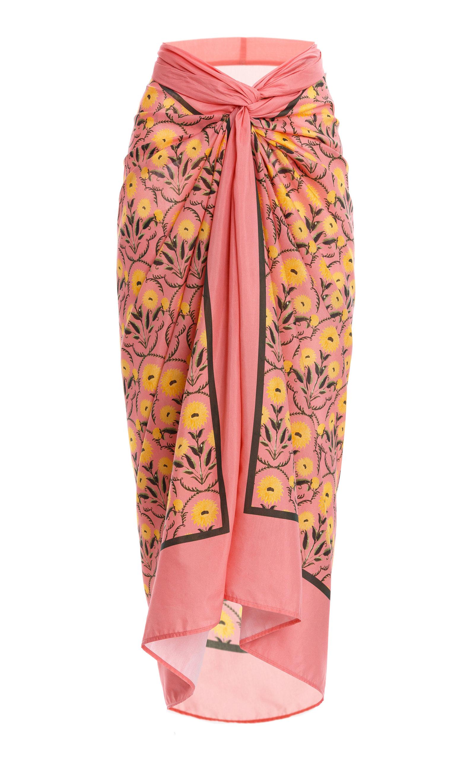 Agua By Agua Bendita Women's Lavanda Mimosa-printed Cotton Silk Pareo In Pink