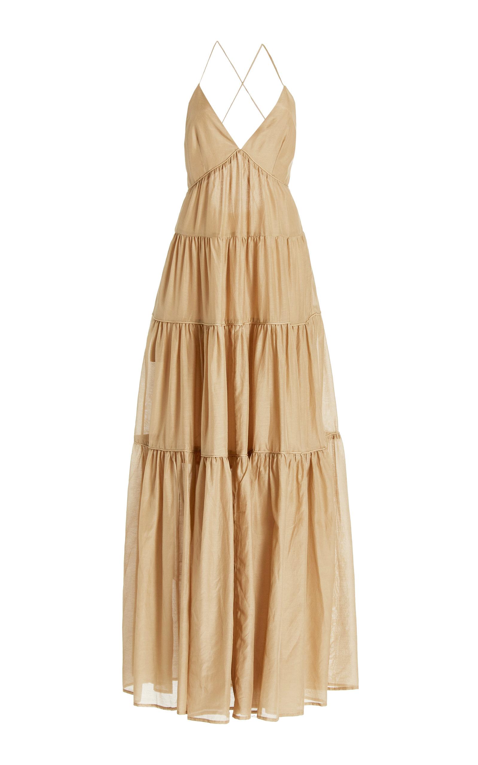 Women's Apollo Silk and Cotton-Blend Maxi Dress