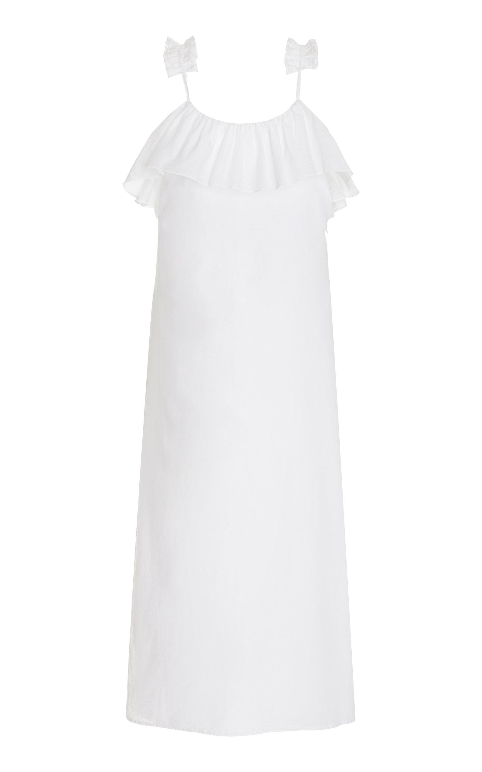 Women's Inca Ruffled Cotton Voile Maxi Dress