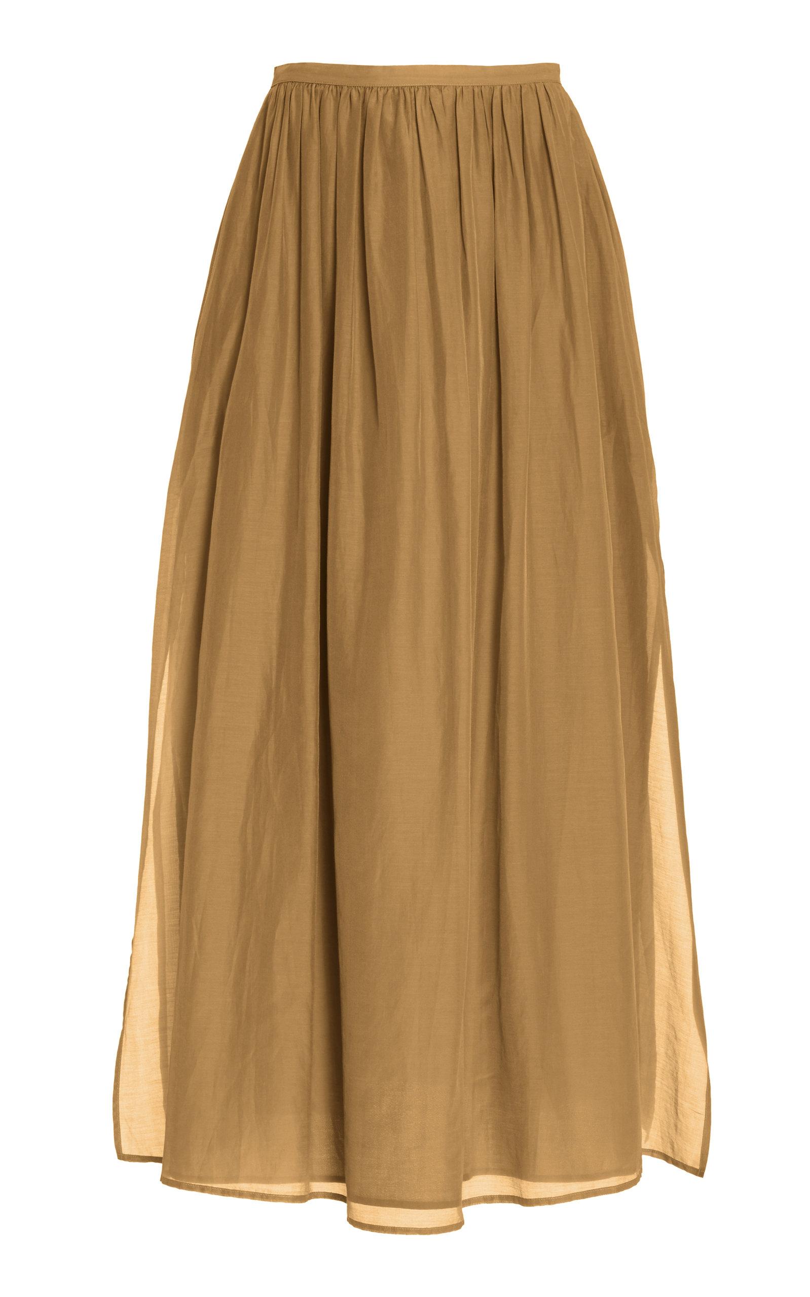 Women's Rae Cotton-Silk Maxi Skirt