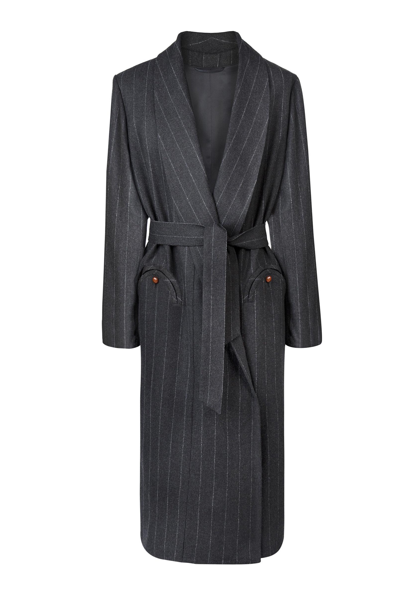 Women's Ferien Whistler Pinstriped Wool-Cashmere Coat