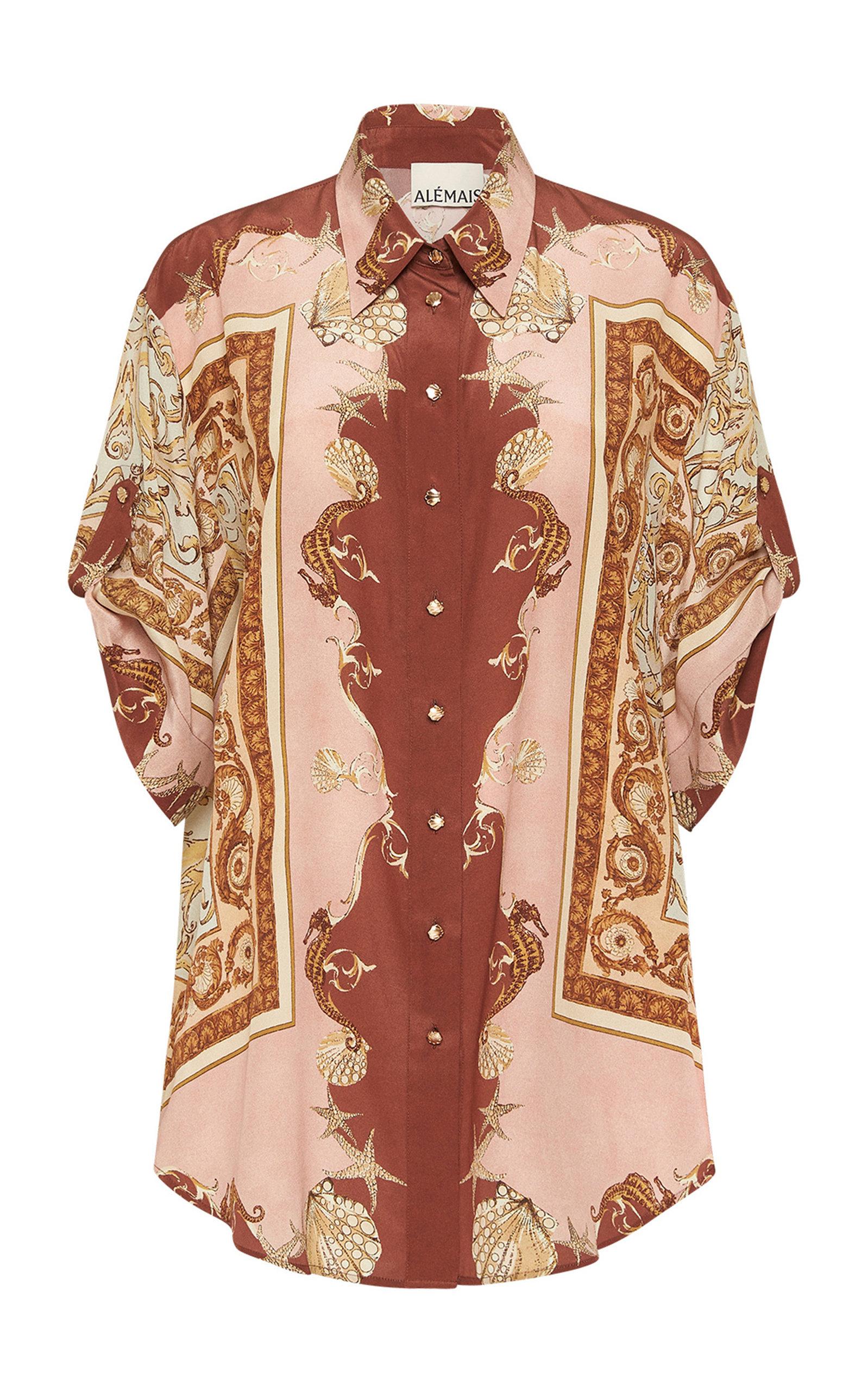 Women's Ursula Printed Silk Shirt