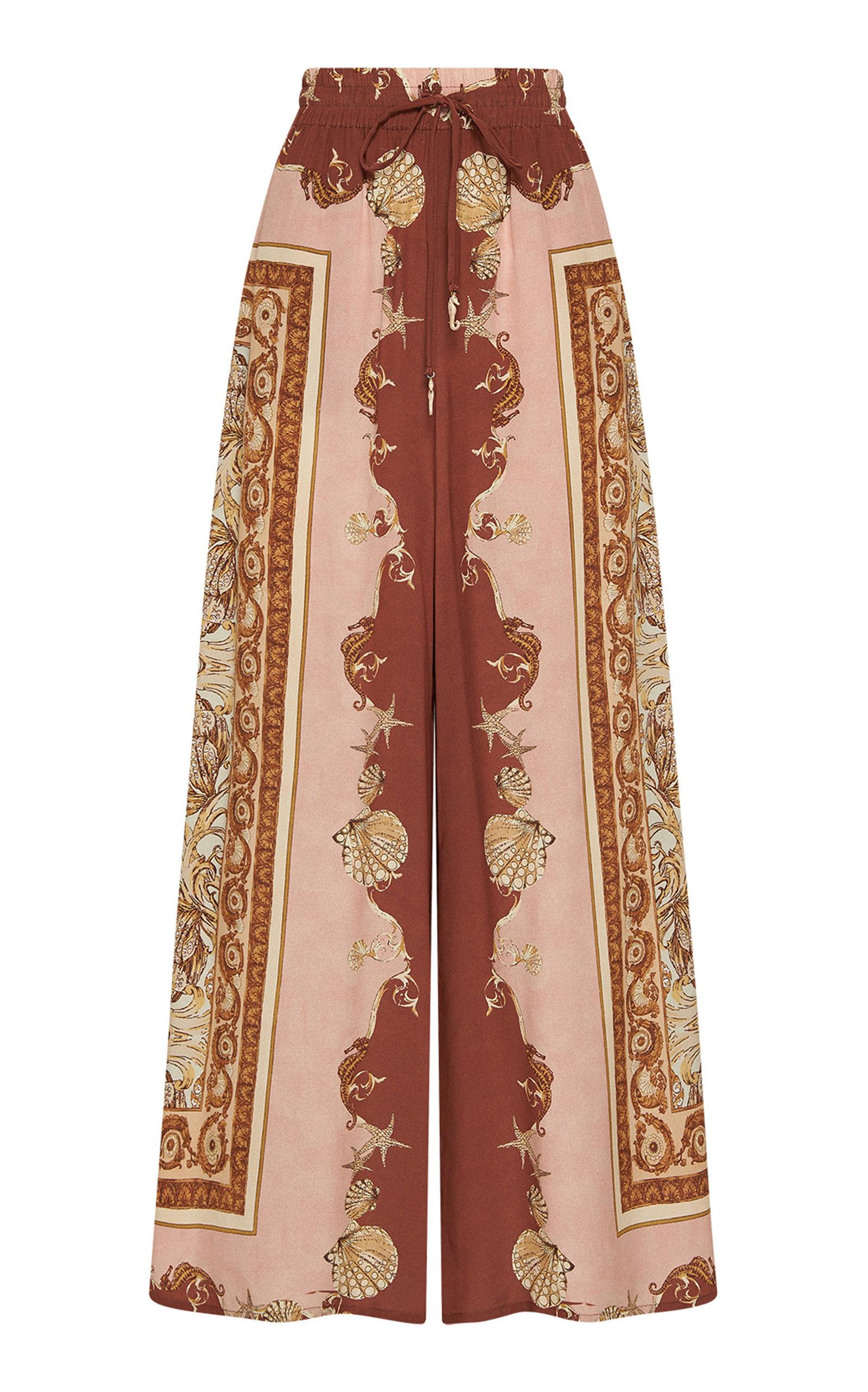 ALÉMAIS - Women's Ursula Printed Silk Pants - Print - Moda Operandi