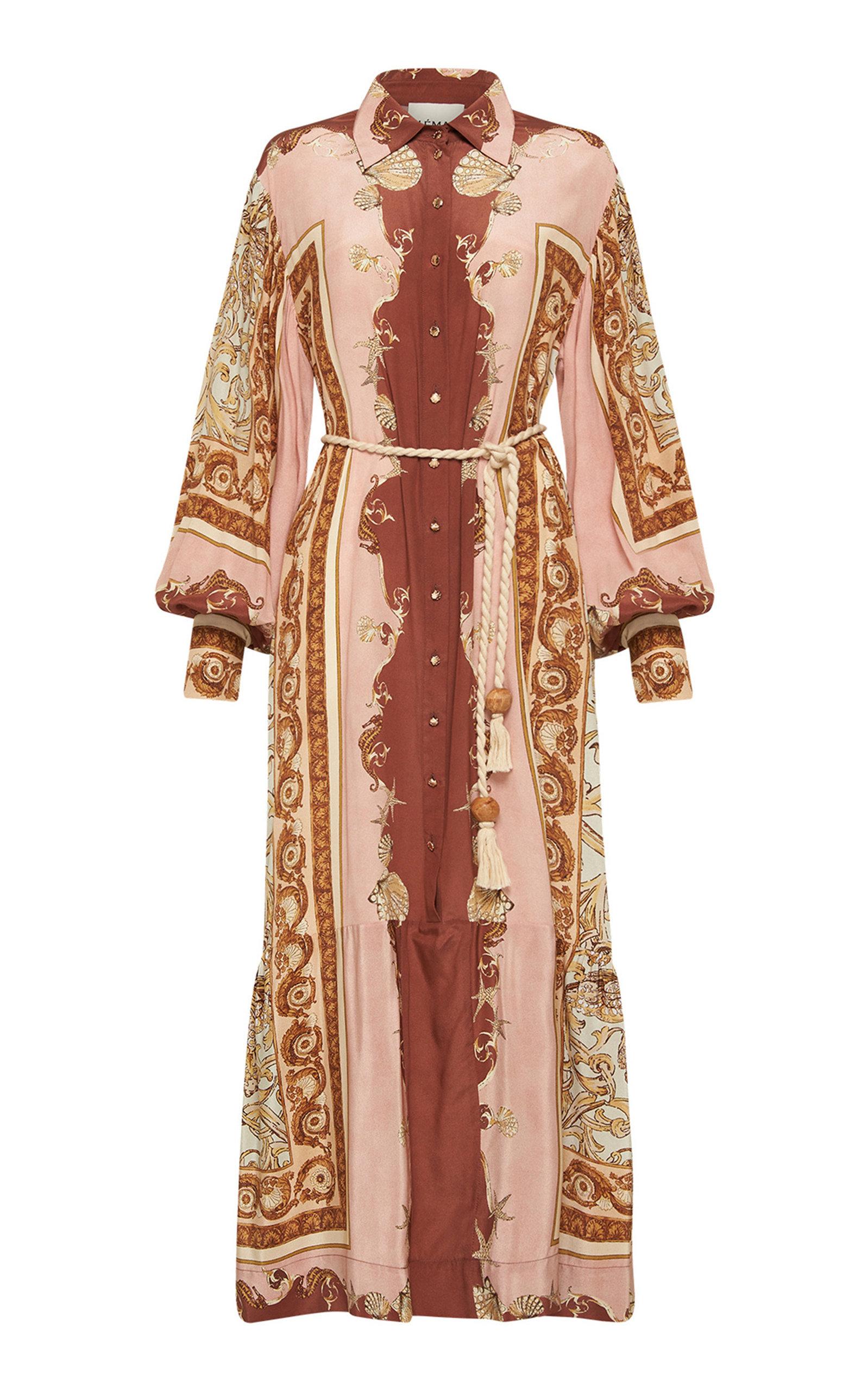 Women's Ursula Printed Silk Shirt Dress