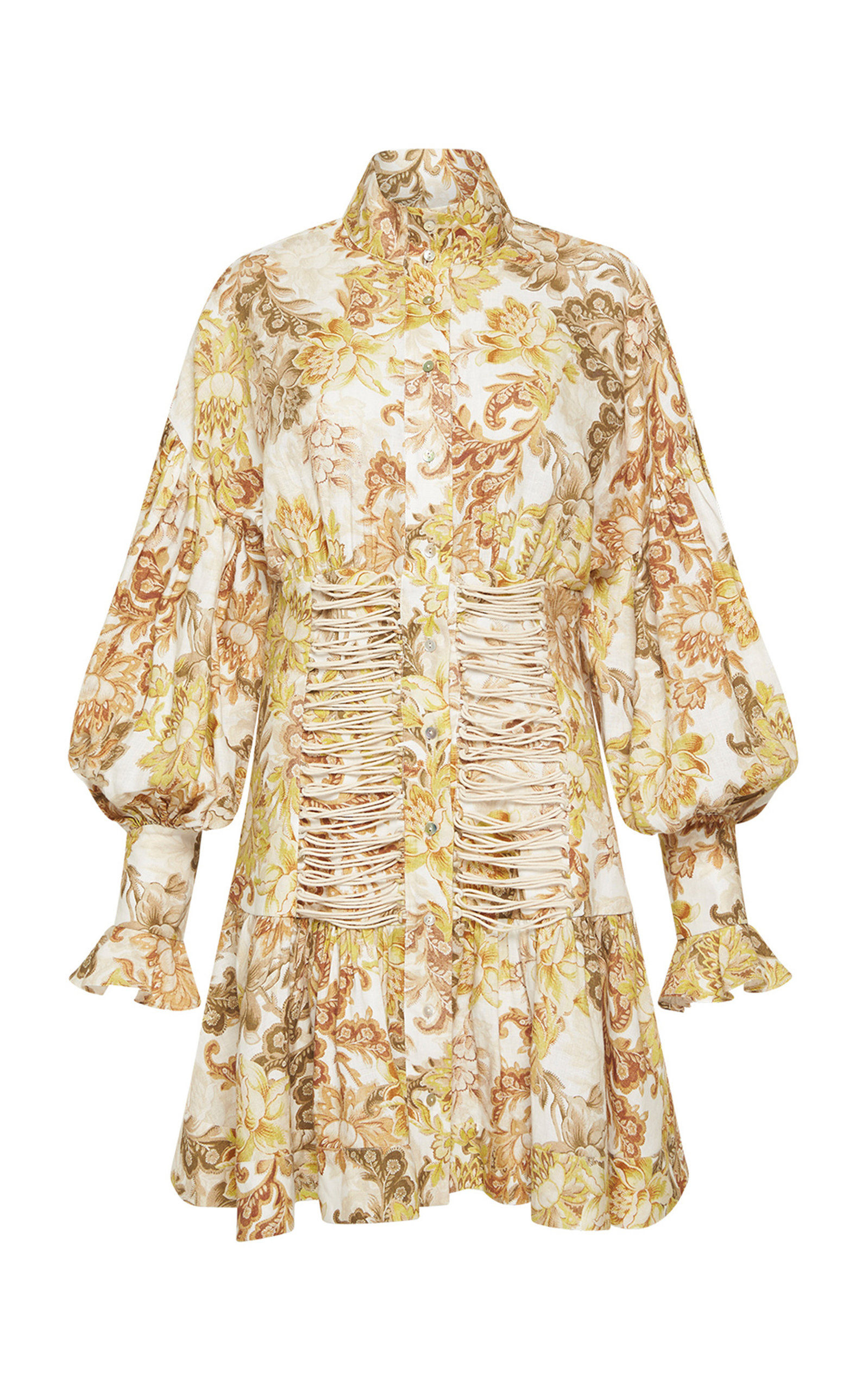 Women's Bernadette Linen Corset Mini Dress