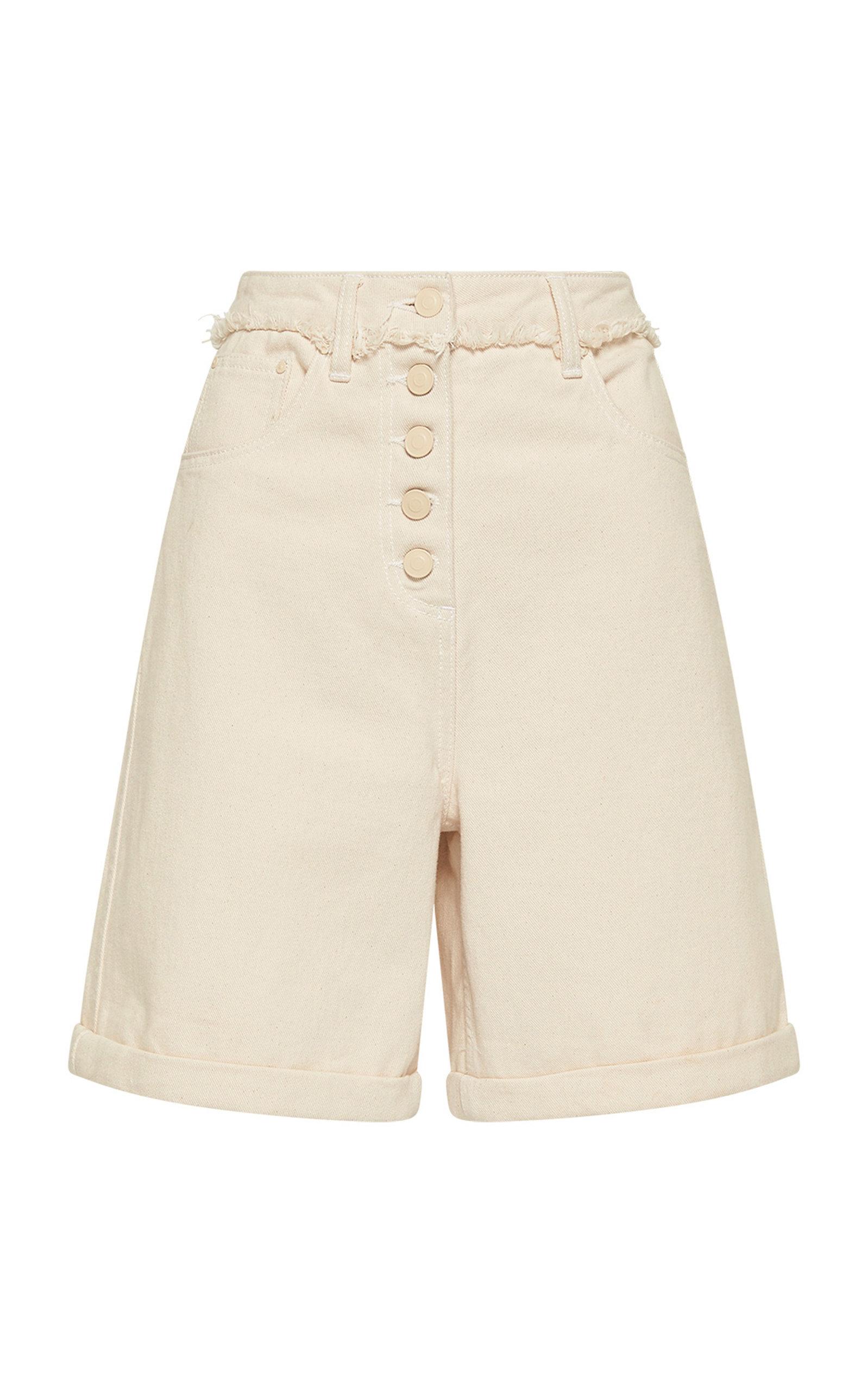 Women's Yolo Fray-Detail Denim Shorts