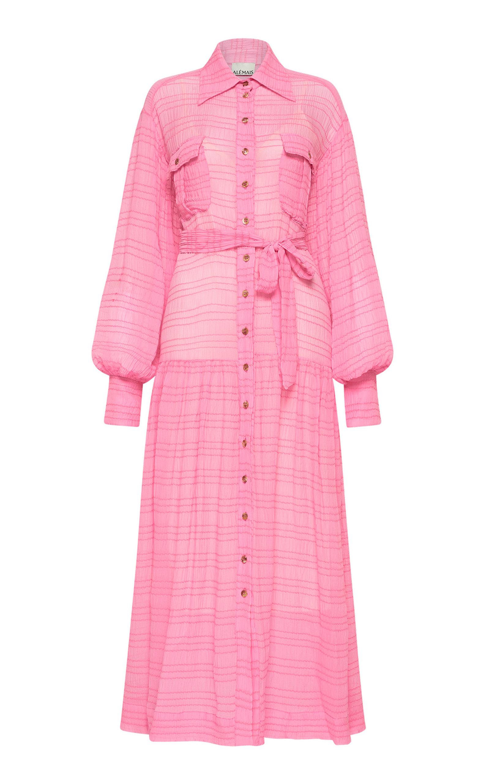 ALÉMAIS - Women's Antonella Collared Silk-Cotton Shirt Dress - Pink - Moda Operandi