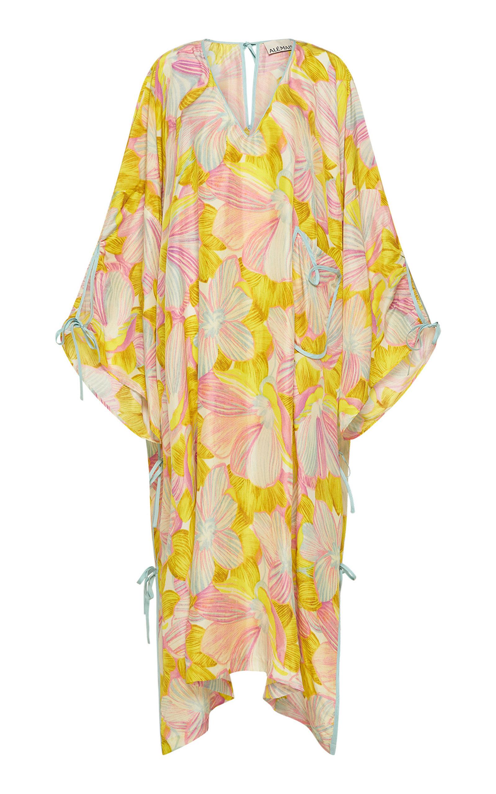 Women's Cali Girl Printed Silk Maxi Dress