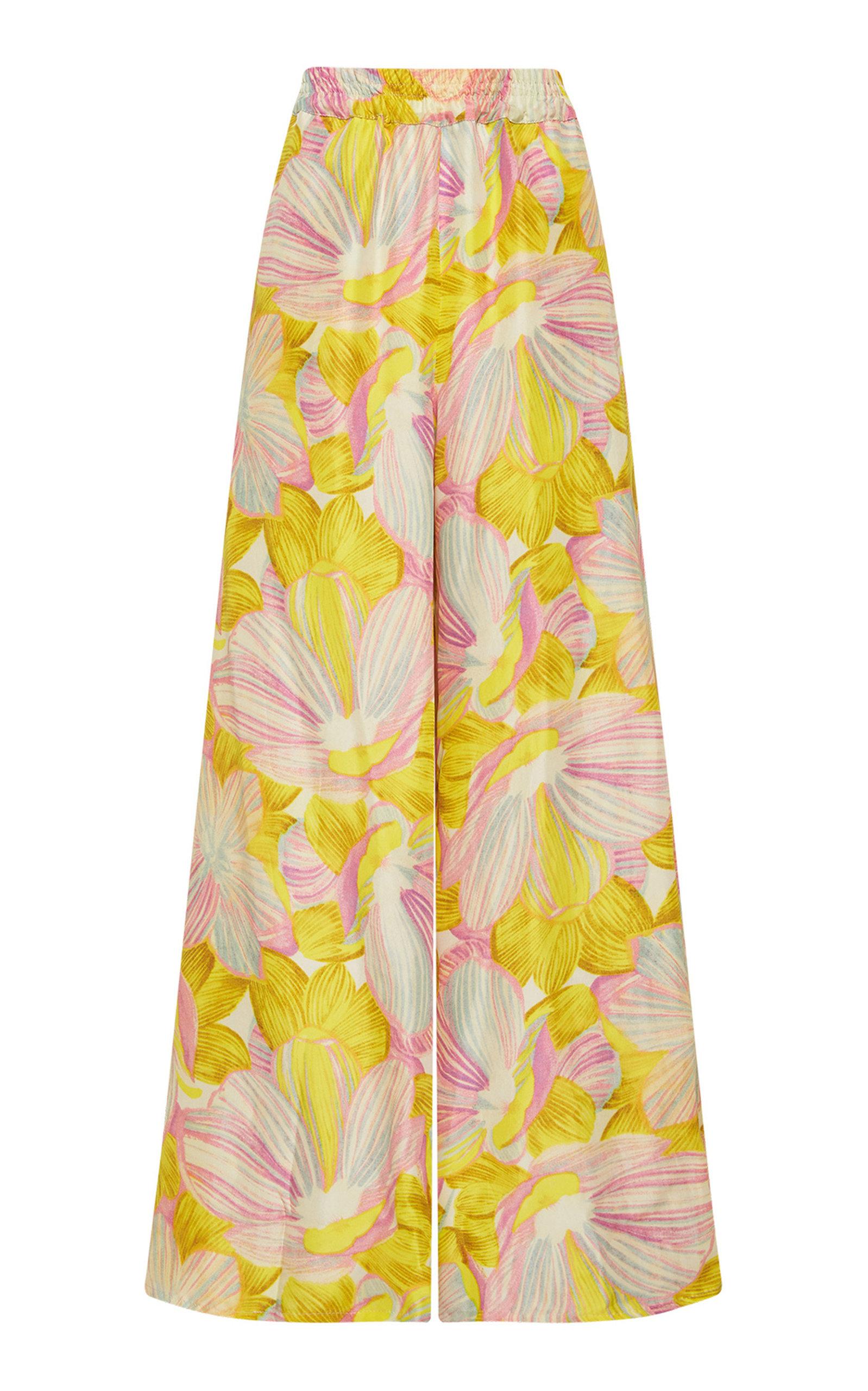 ALÉMAIS - Women's Cali Girl Printed Silk Pants - Print - Moda Operandi