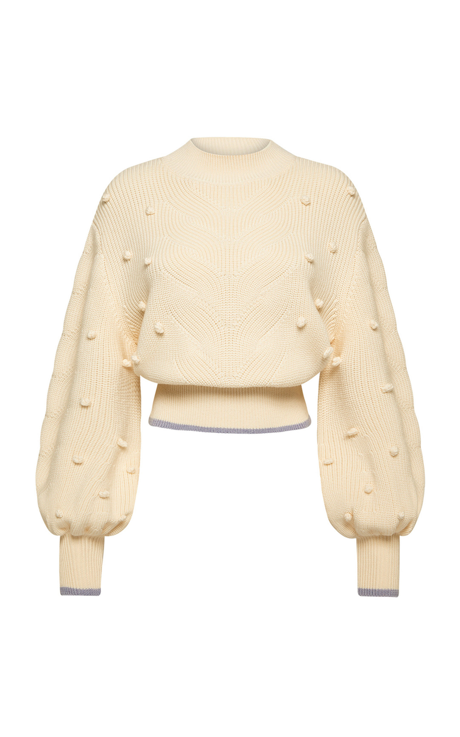 Women's Embroidered Cable-Knit Wool Sweater