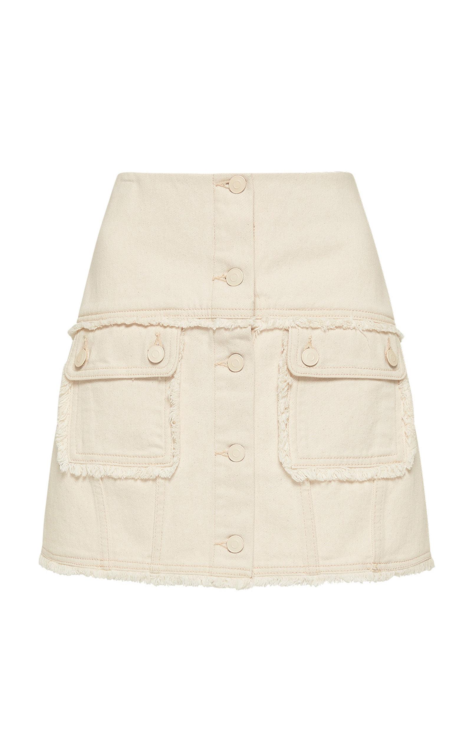 ALÉMAIS - Women's Yolo Denim Mini Skirt - Neutral - Moda Operandi
