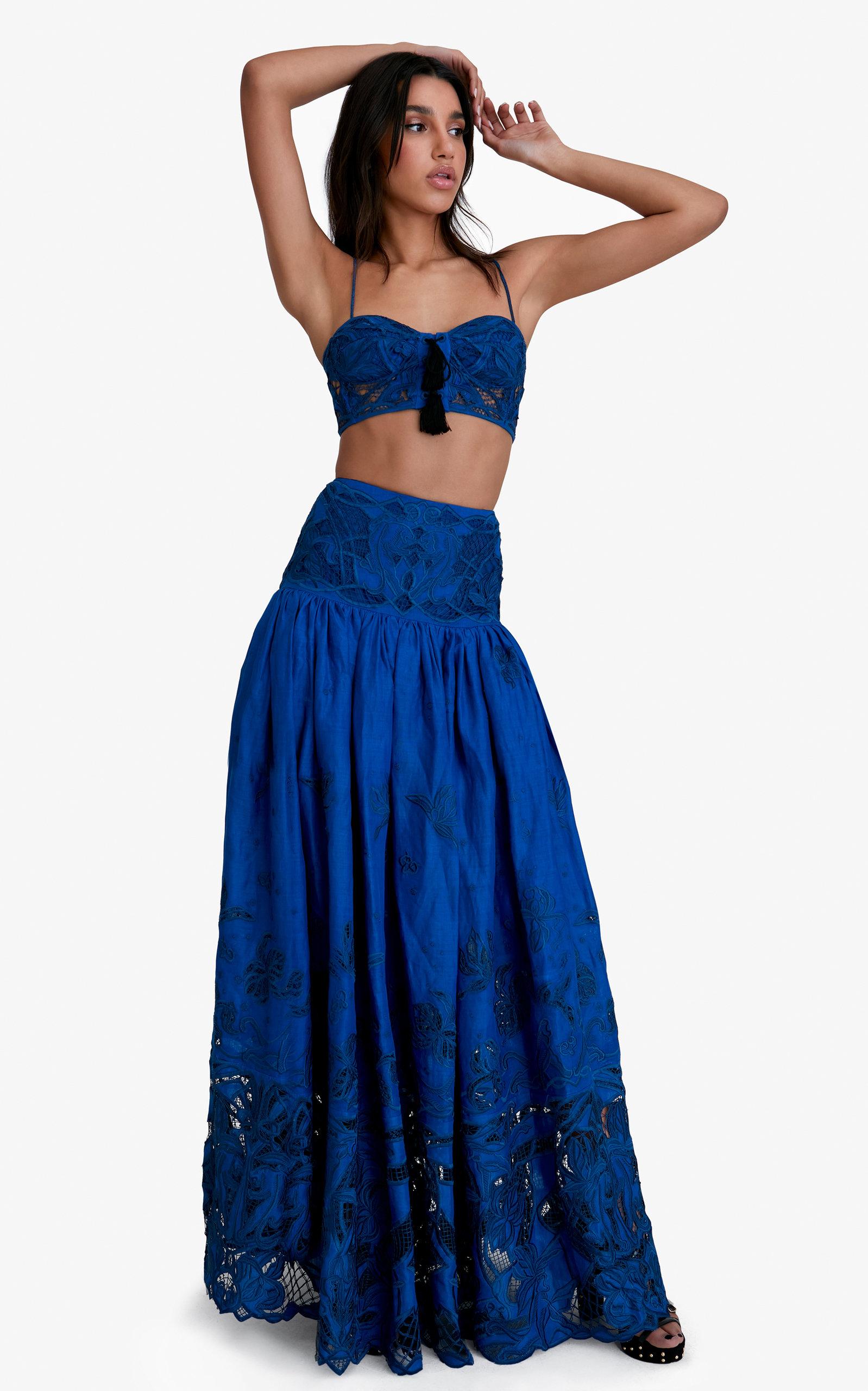 Women's Bianca Cotton-Linen Maxi Skirt