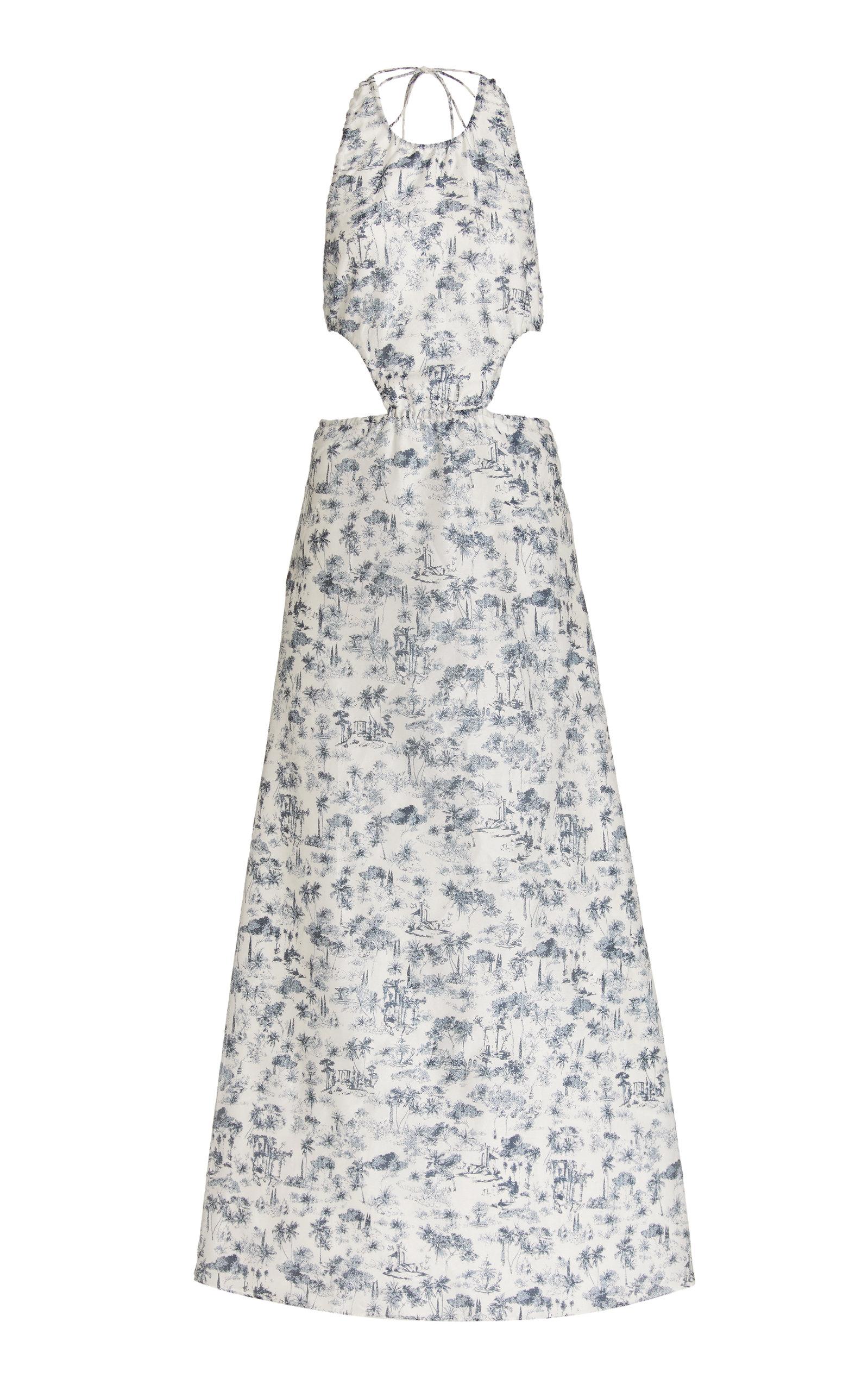 Sir Women's Dimitri Open-back Printed Cotton-silk Maxi Dress In Multi