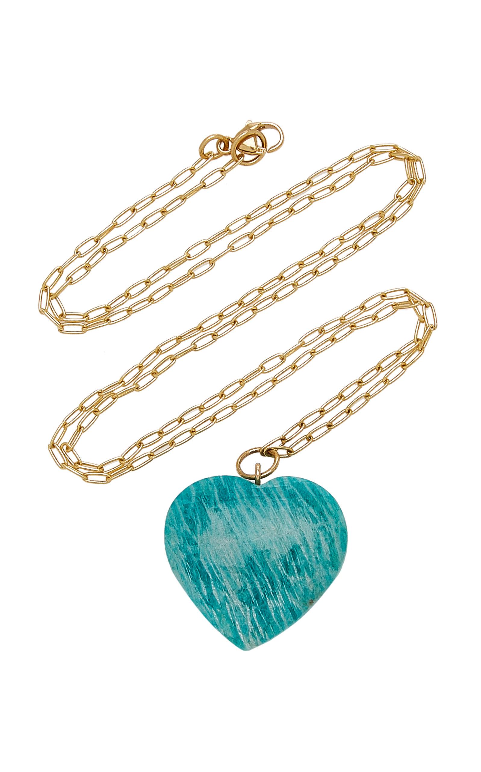 Women's 18k Yellow Gold Amazonite Necklace