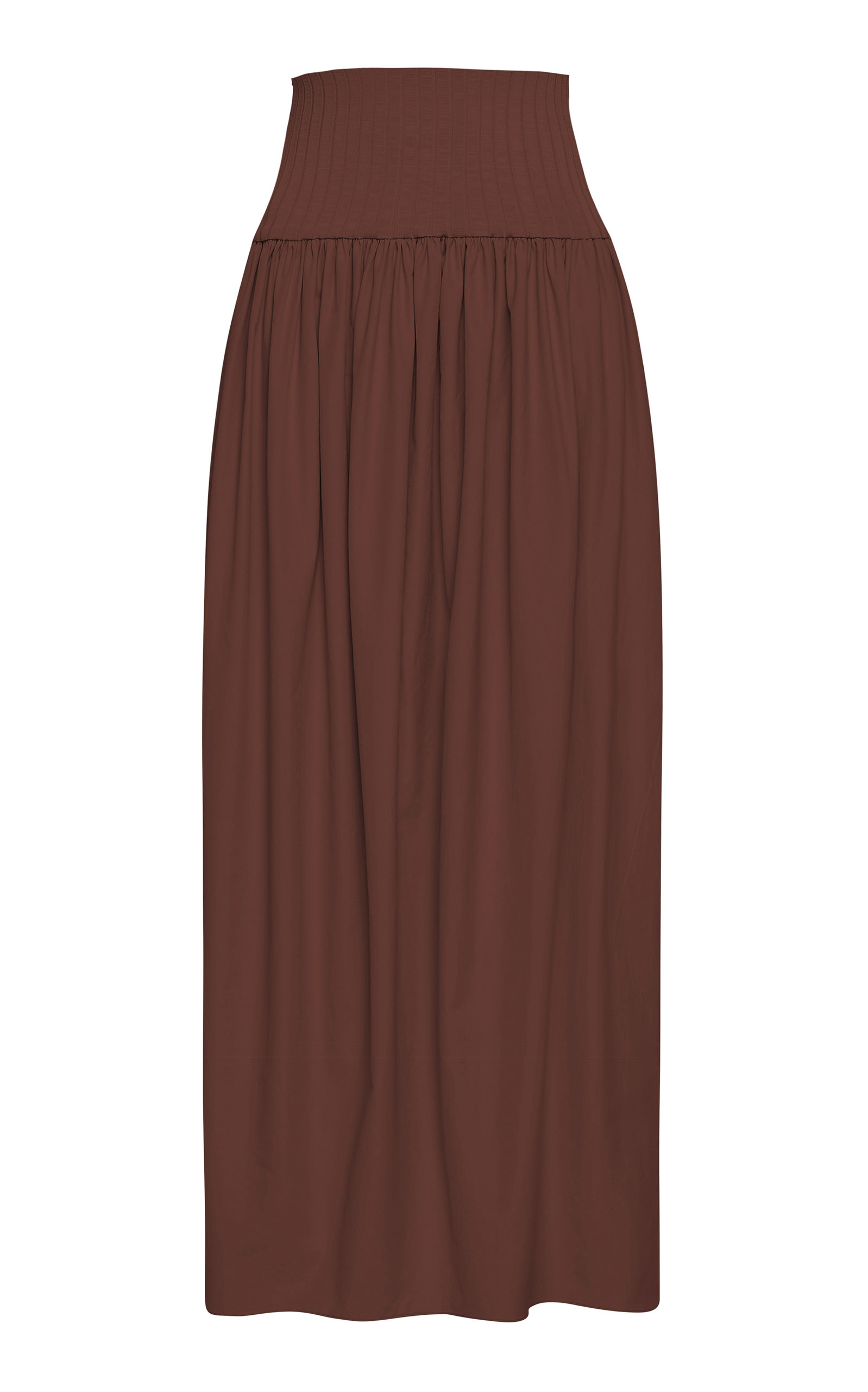 Women's High-Rise Cotton Maxi Skirt