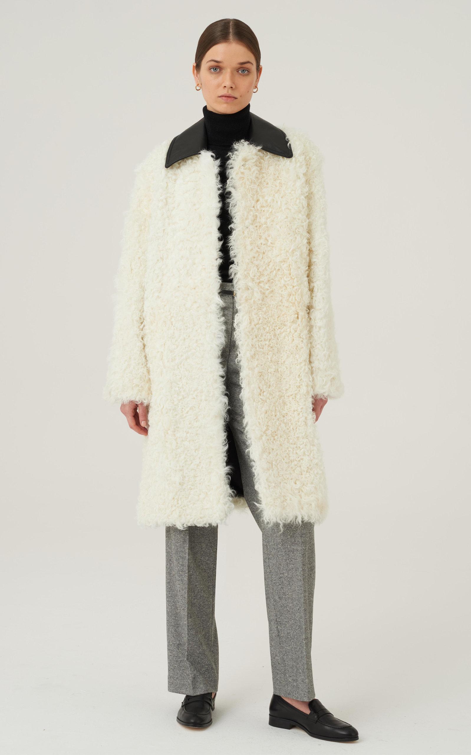 Women's Juno Fur Leather-Trimmed Coat