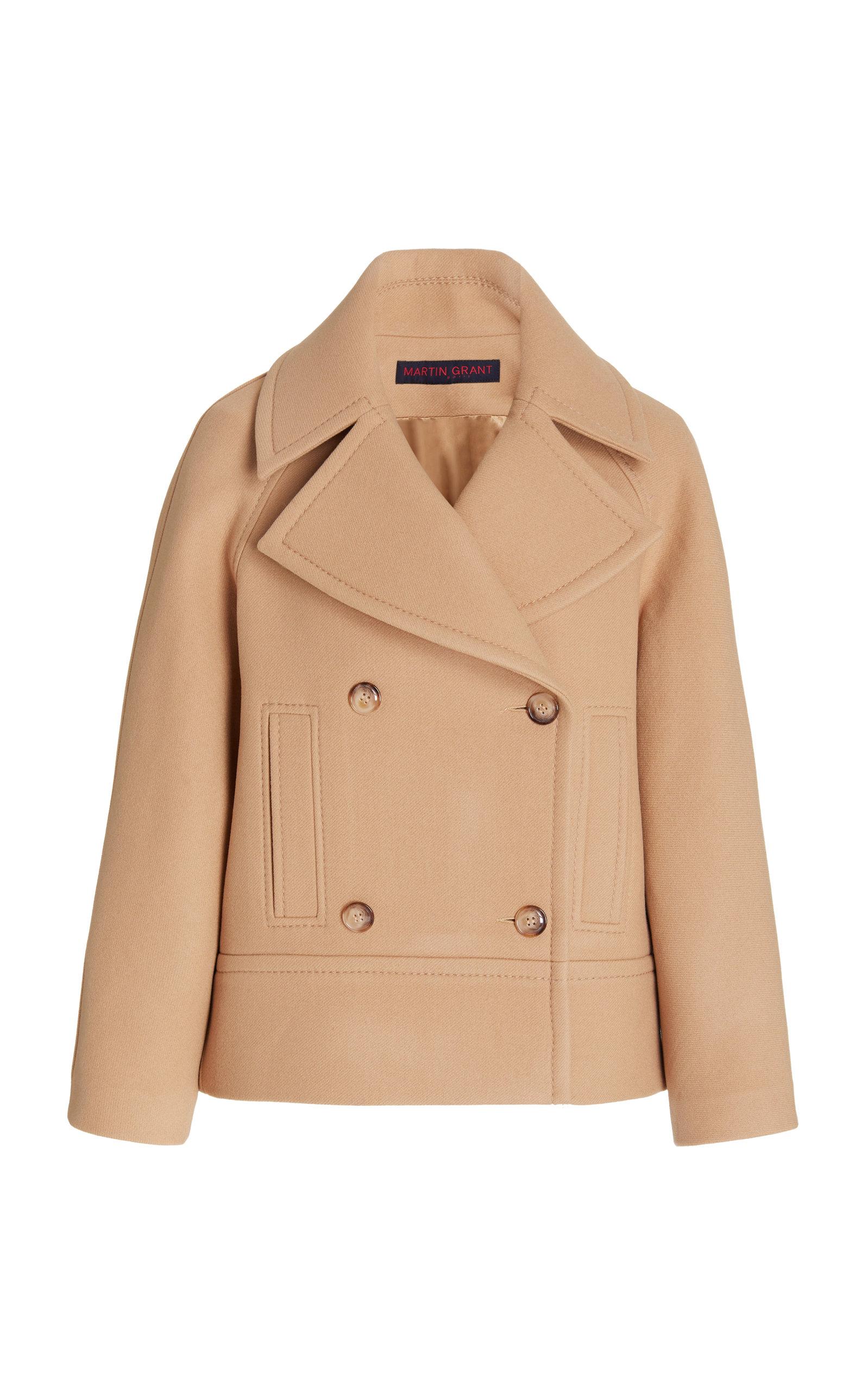 Women's Wool-Blend Double-Breasted Pea Coat