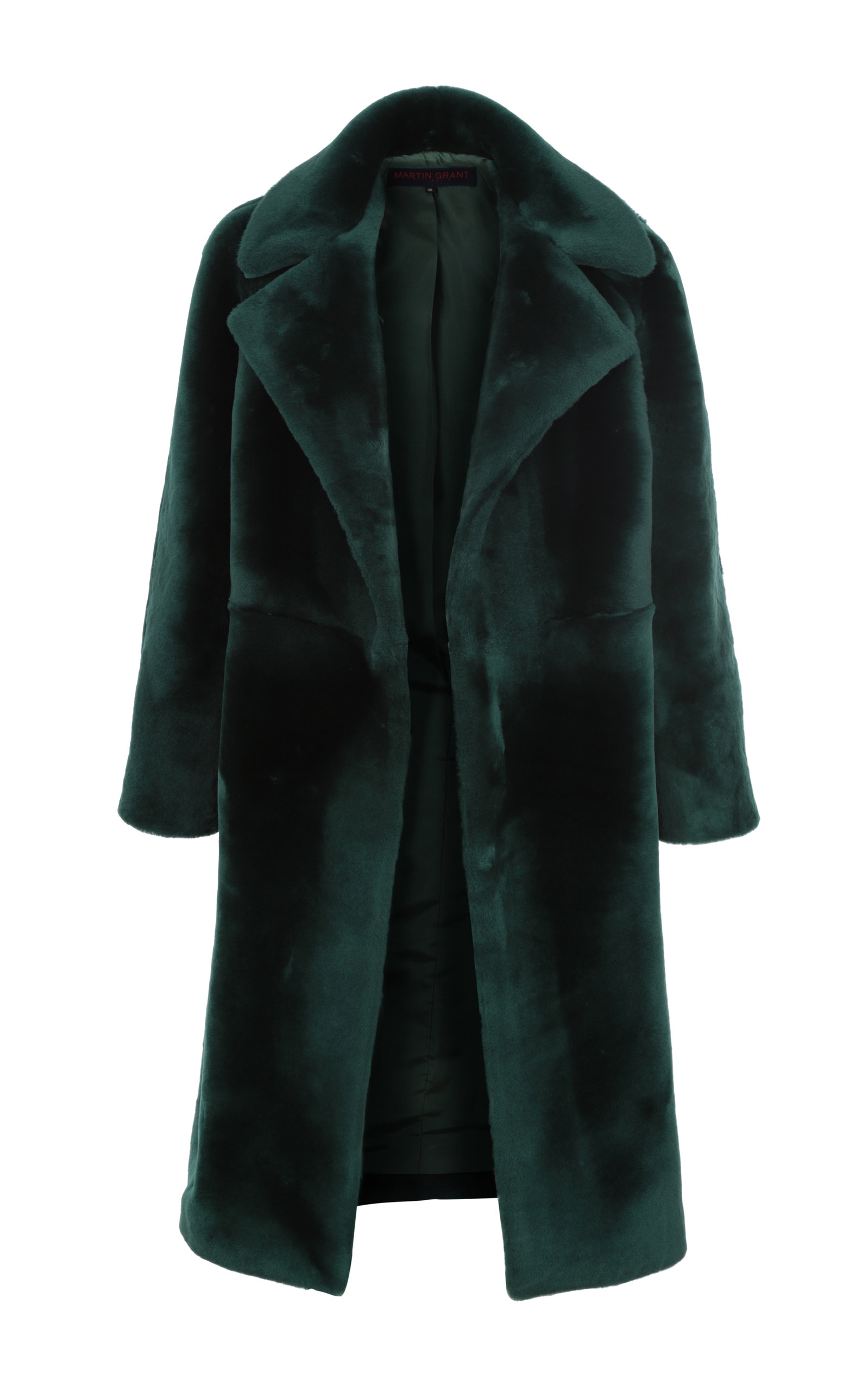 Women's Open-Front Shearling Coat