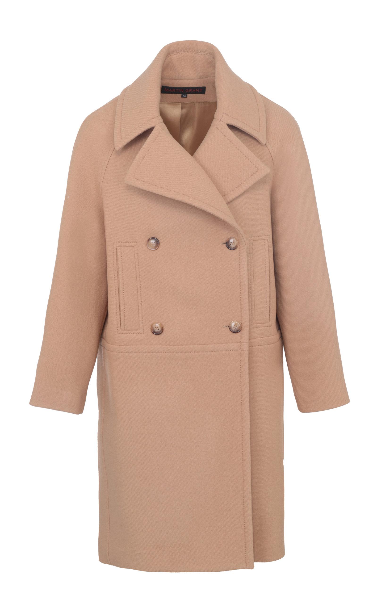Women's Caban Wool-Blend Tailored Coat